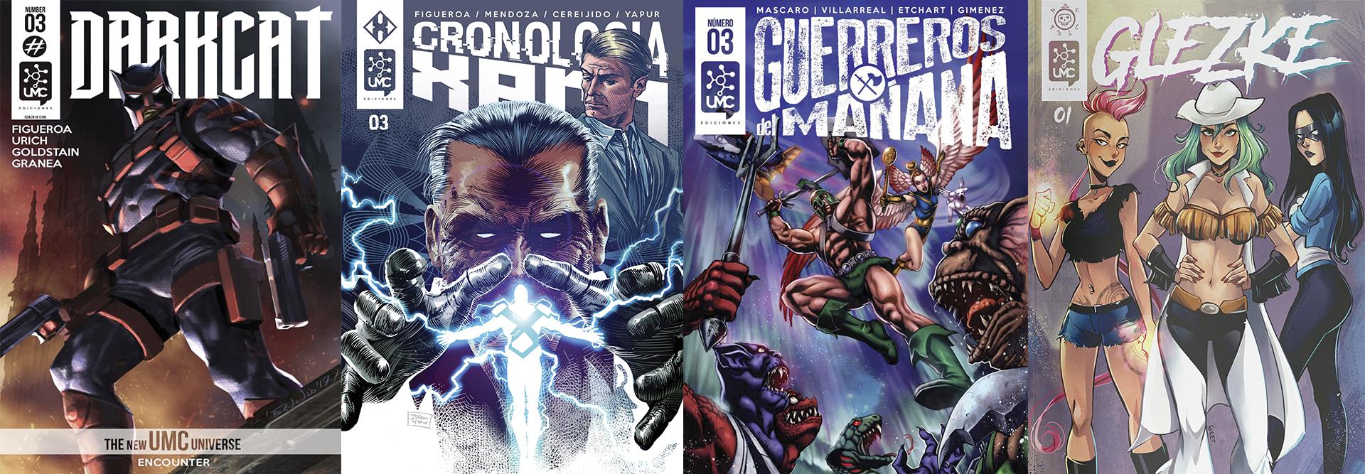 Los otros cómics del Universo de UMC y el próximo lanzamiento, Glezke