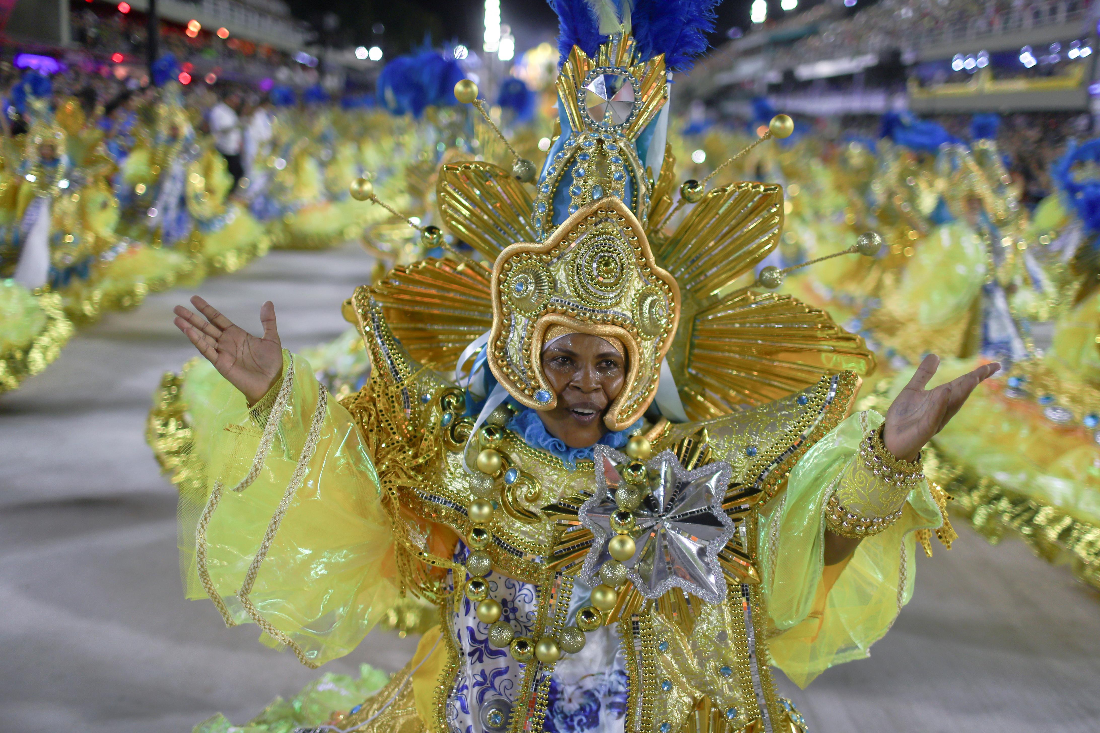 Una bailarina de Paraiso do Tuiuti (REUTERS/Pilar Olivares)
