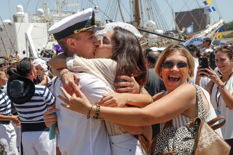 La fragata concluyó así su viaje de instrucción 48 de los guardamarinas de la Armada Argentina, tras completar un derrotero de 17 mil millas