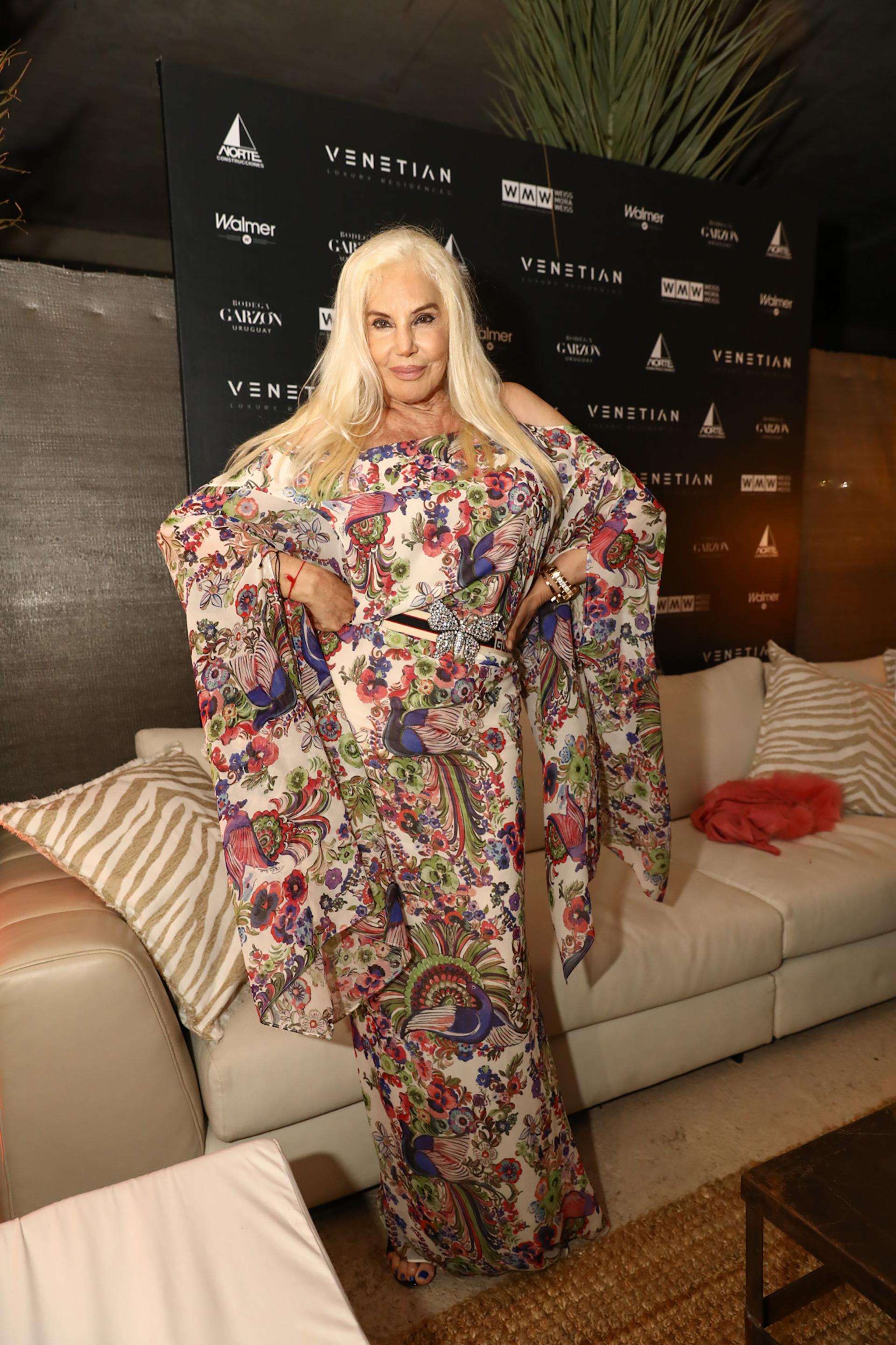 Susana Giménez y un espectacular vestido de estampa floral