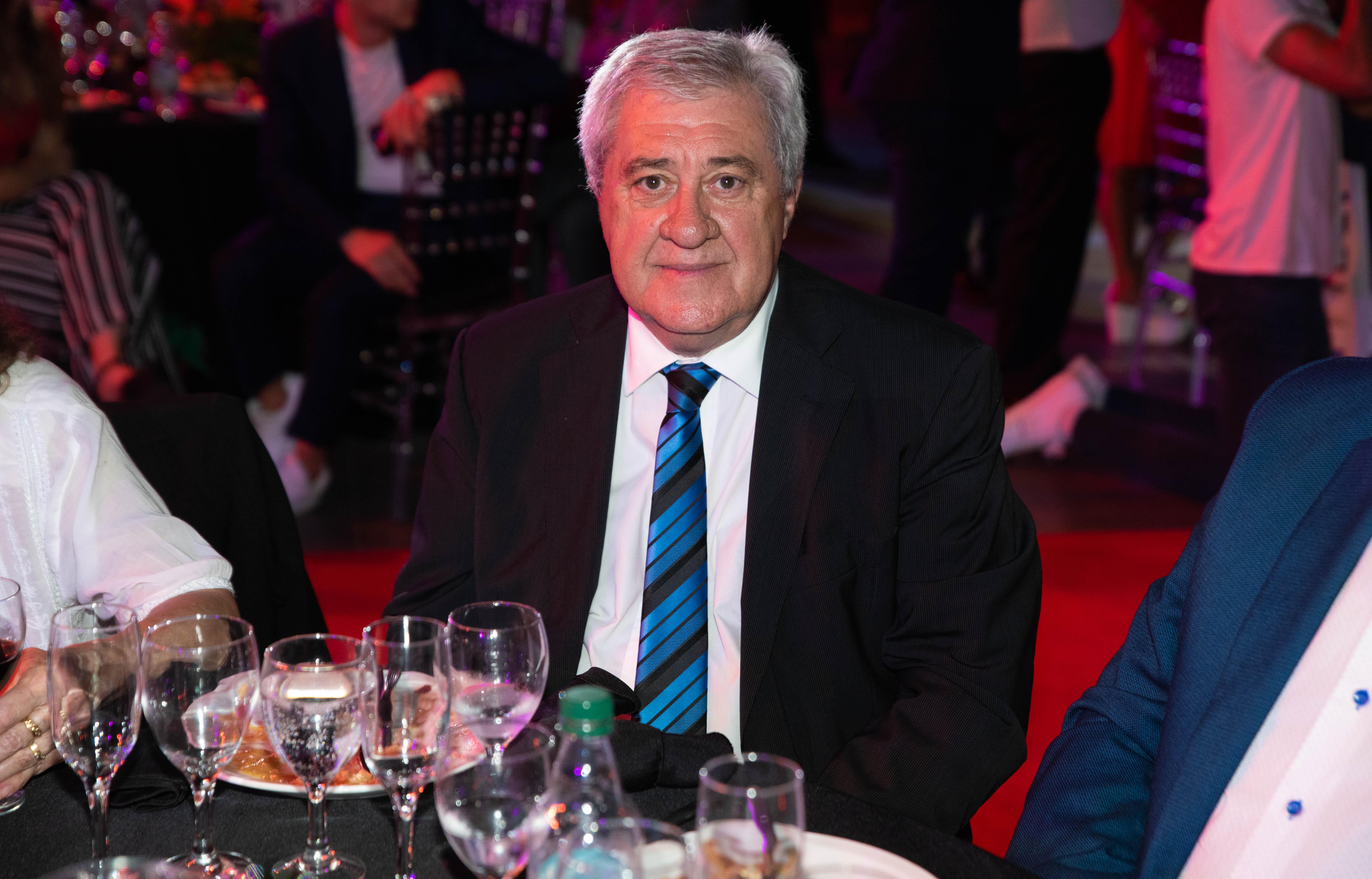 Jorge Amor Ameal, recientemente elegido como presidente de Boca, se hizo presente en la premiación.