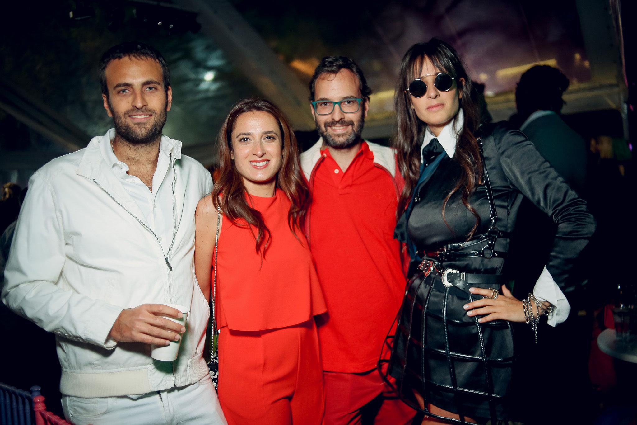 Felipe, Magdalena y Ricardo Grüneisen junto a Concepción Cochrane Blaquier