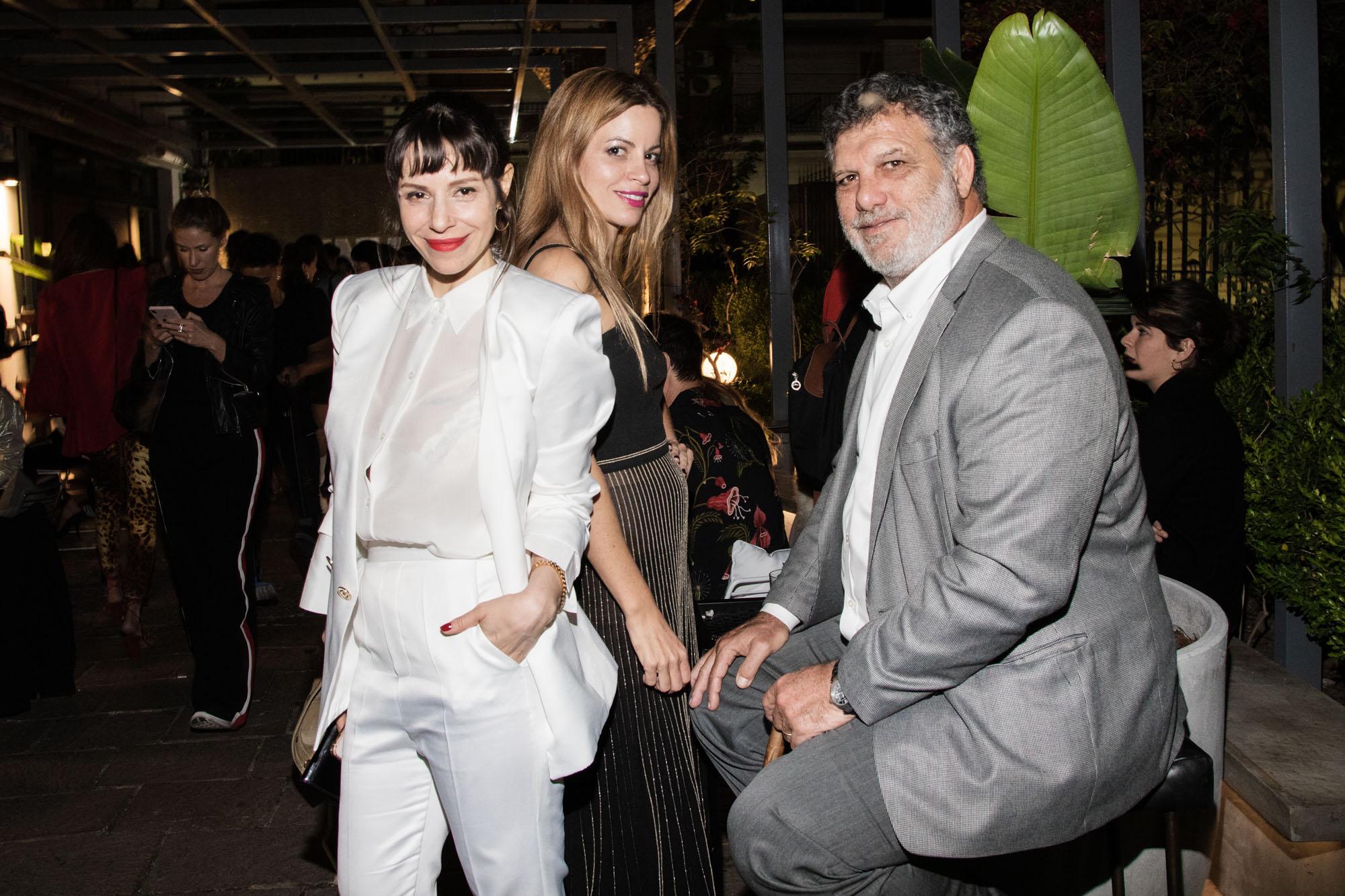 Ale Quevedo, Nuria Quintela y Gianfranco Macri en la apertura de Invernadero