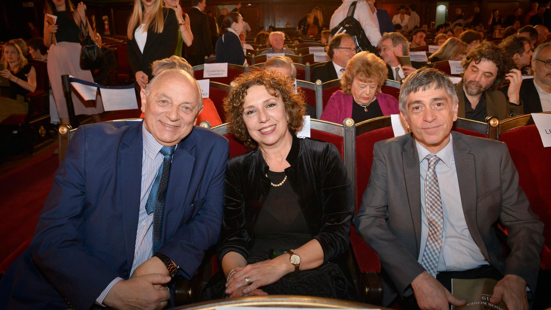 Mauricio Wainrot, Andrea Chinetti y Miguel Elias parte del Ballet Contemporáneo del Teatro San Martín