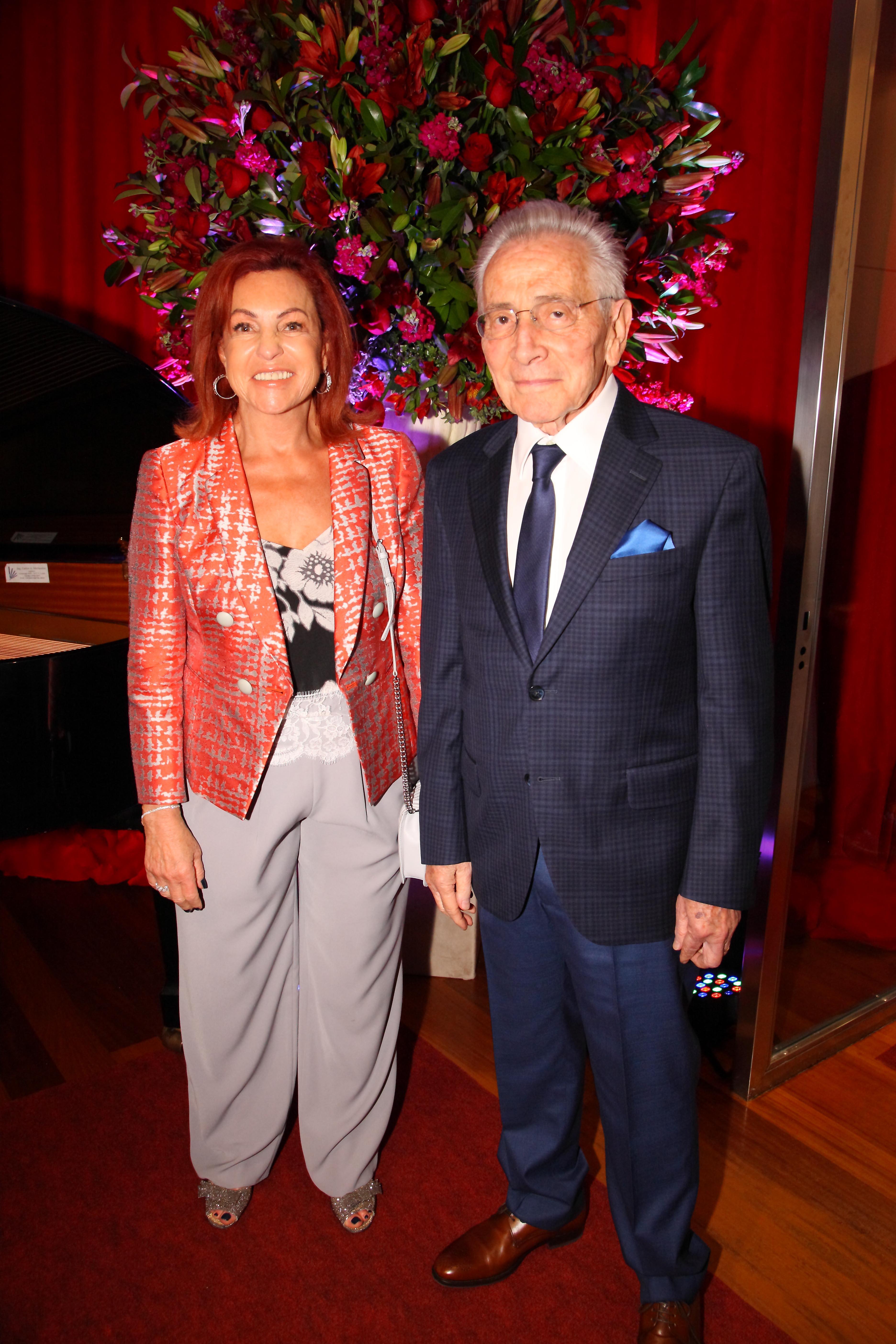 El escritor Marcos Aguinis y su mujer Nora