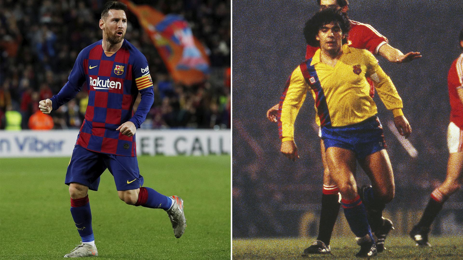 Messi Vs Maradona El Inédito Video Del Barcelona Que