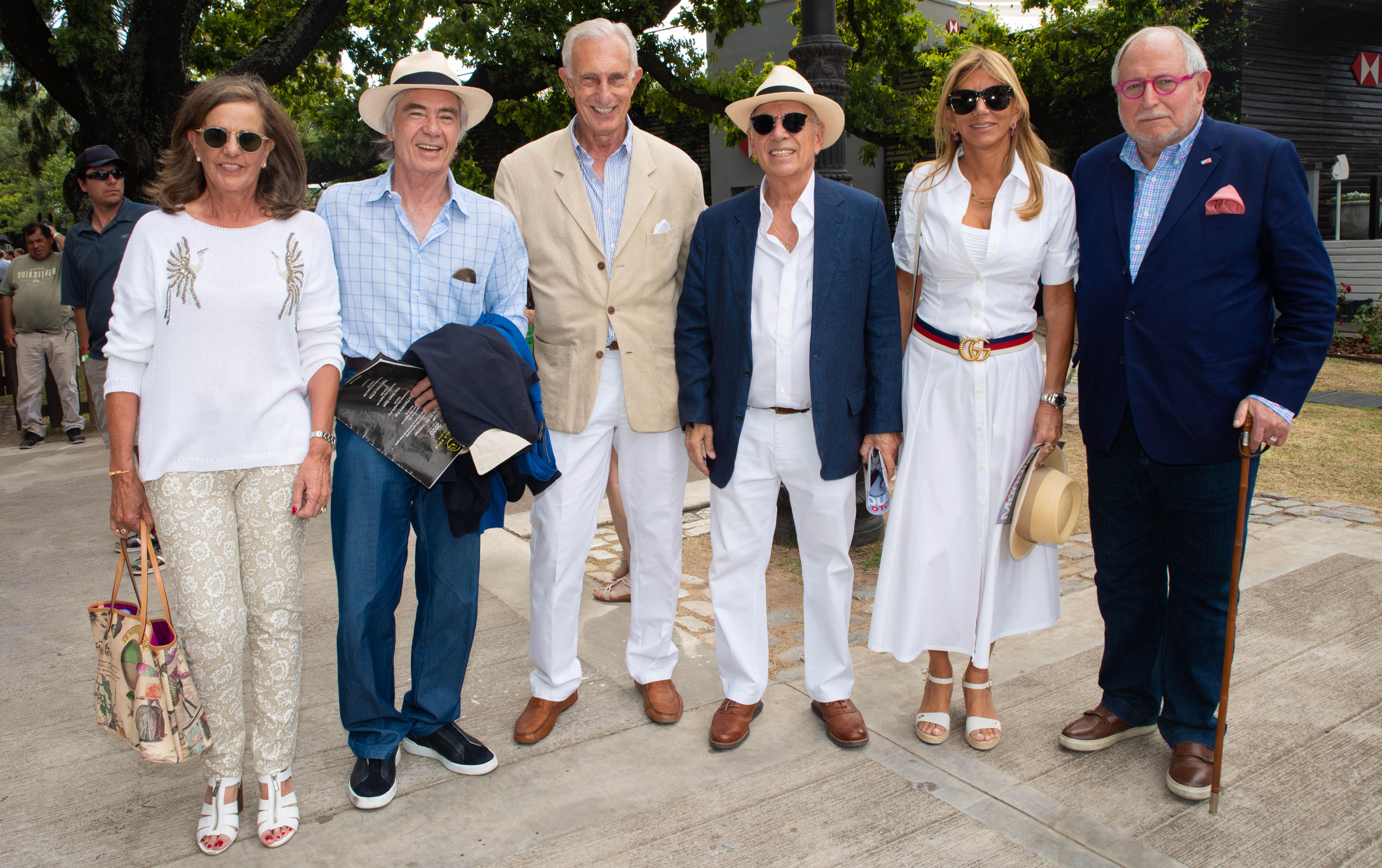 Silvia Saravia de Neuss, Charlie Blaquier, Jorge Neuss, Alejandro y Bettina Bulgheroni, y el ex embajador argentino en China, Diego Guelar