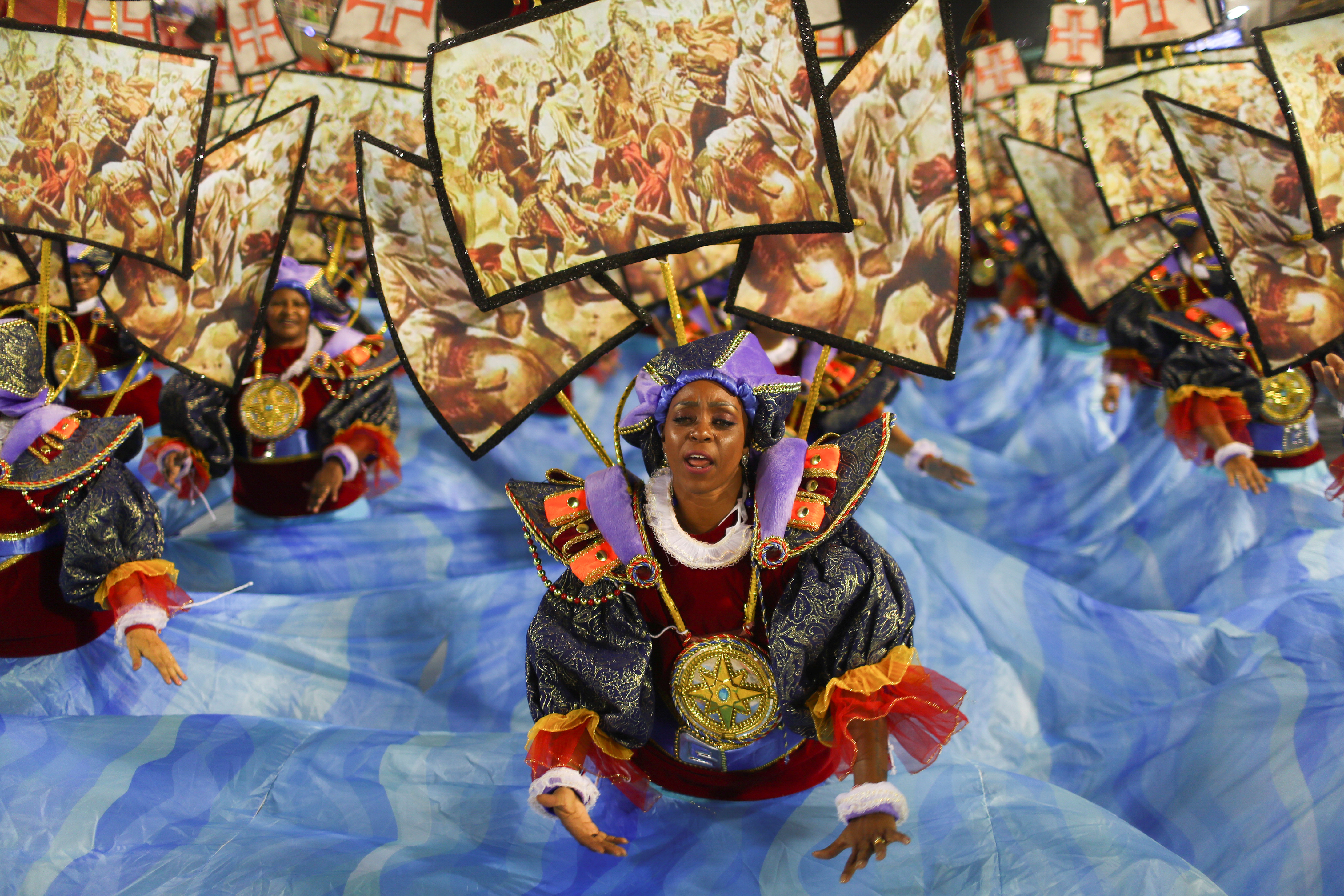Una bailarina de Paraiso do Tuiuti ( REUTERS/Pilar Olivares)