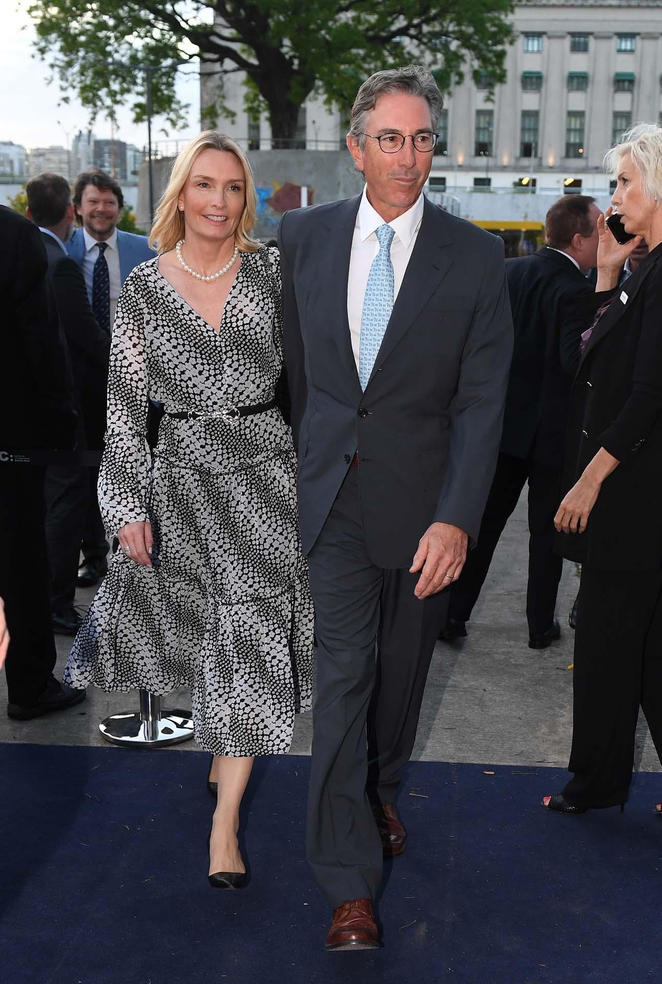 El empresario Pablo Roemmers y su mujer Catherine
