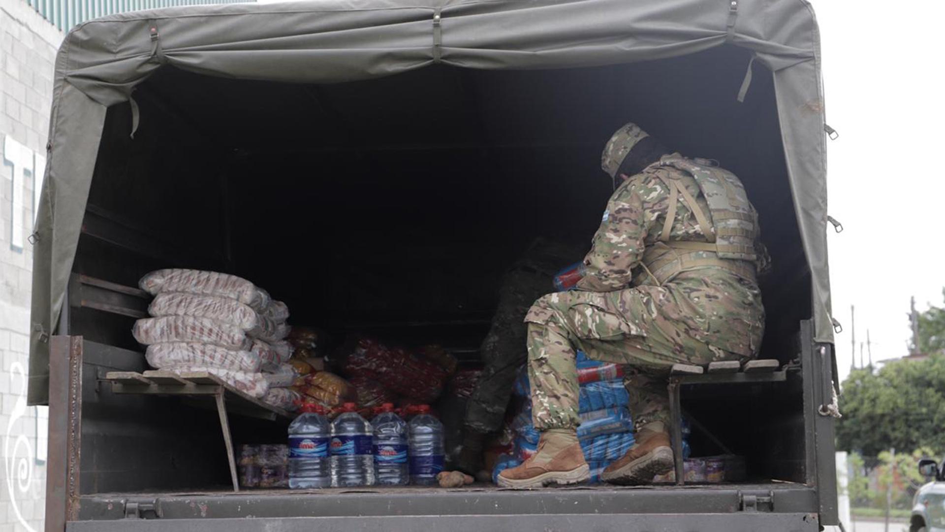 El Ejército llegó con provisiones para ayudar a las familias más necesitadas