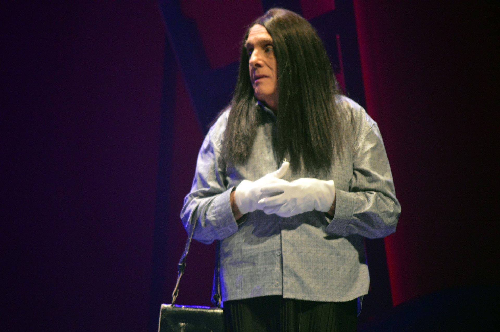 Soledad Dolores Solari, en el espectáculo producido por Guillermo Marín