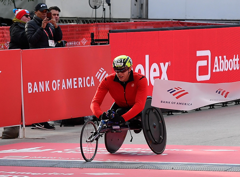 Daniel Romanchuk fue el más rápido en la categoría masculina sobre silla de ruedas