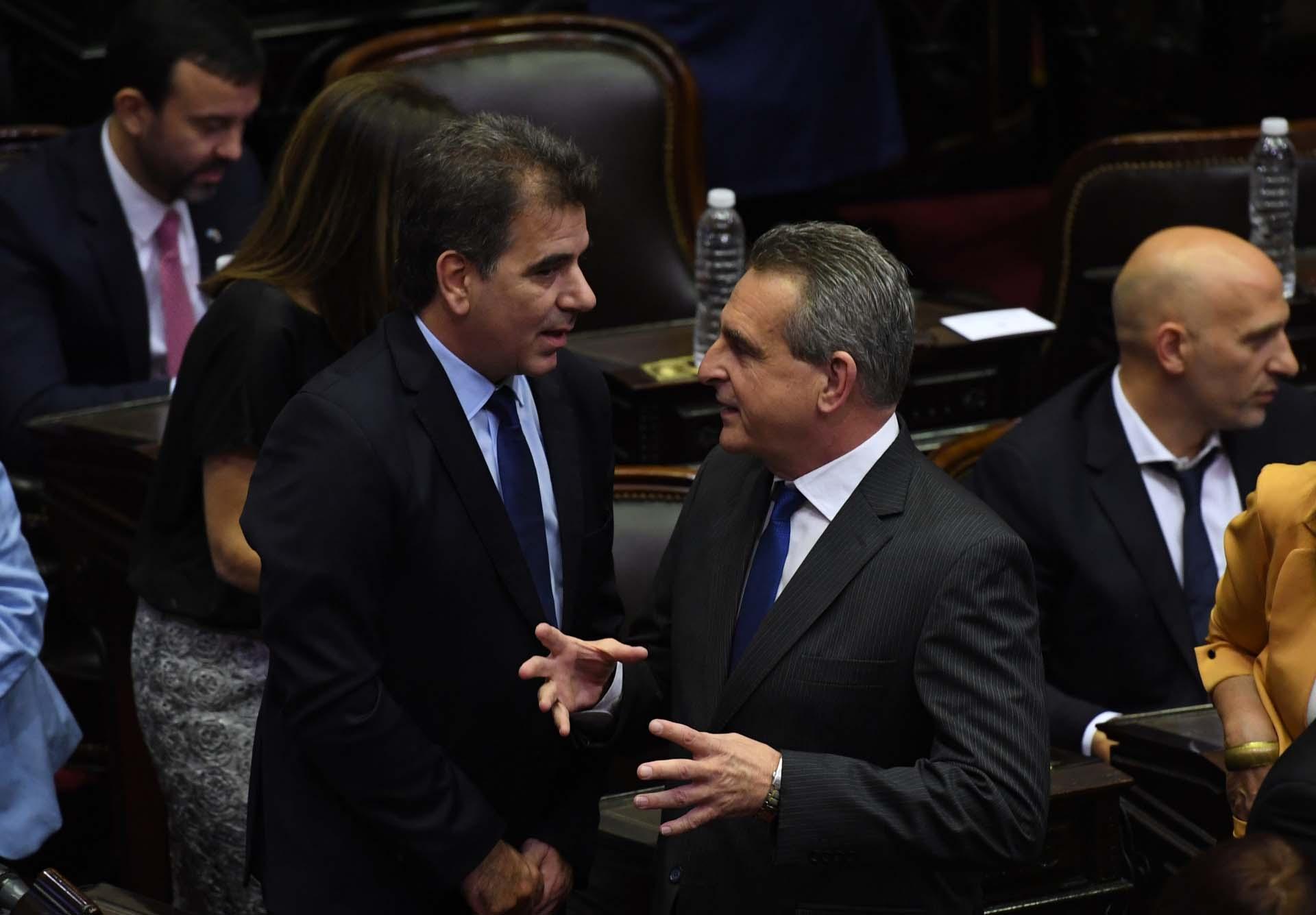 Cristian Ritondo y Agustín Rossi