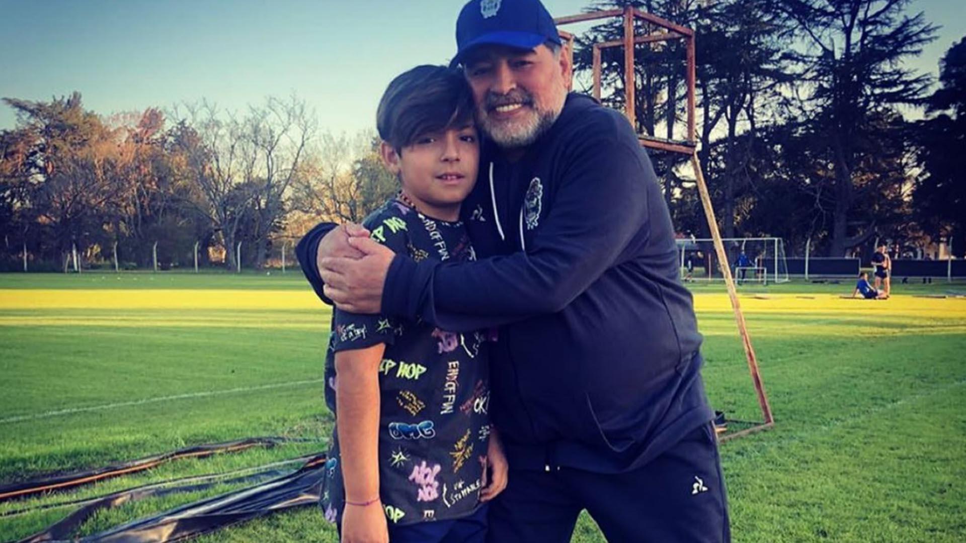 Quién gestó el encuentro de Diego Maradona con su nieto, Benjamín Agüero, y  de qué manera reaccionó Claudia Villafañe - Infobae