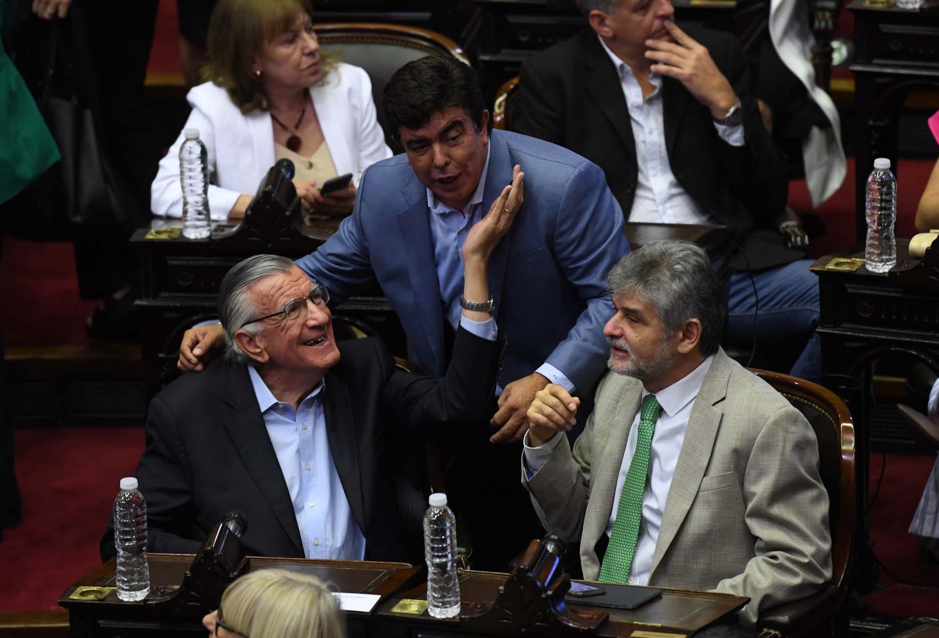 José Luis Gioja, Fernando Espinoza y Daniel Filmus