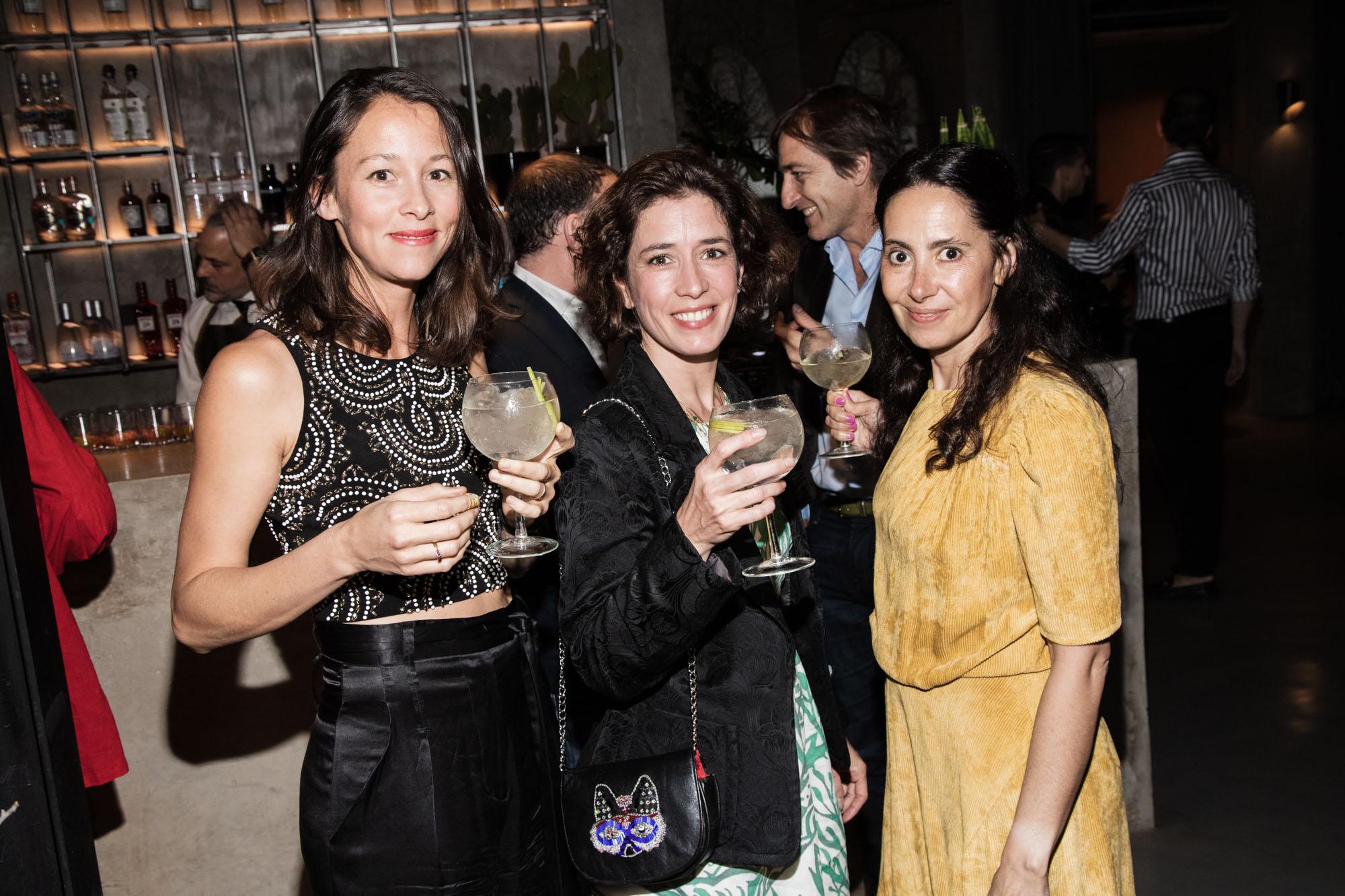 Teodelina Escalante, Florinda Perkins y Lulu Nofal
