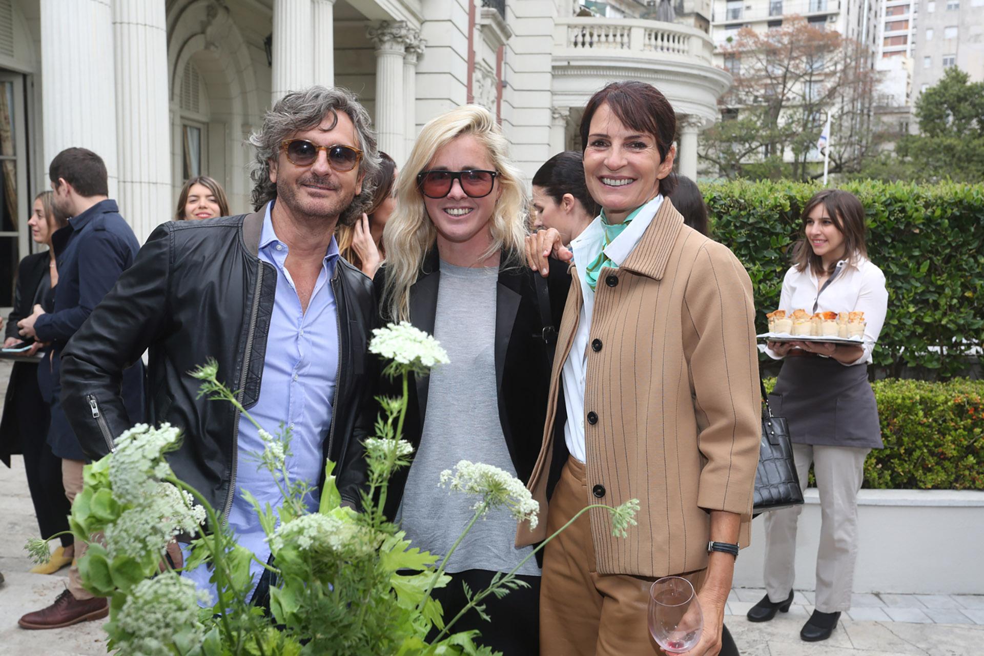 Pablo Massey, Kika Tarelli y María Giménez