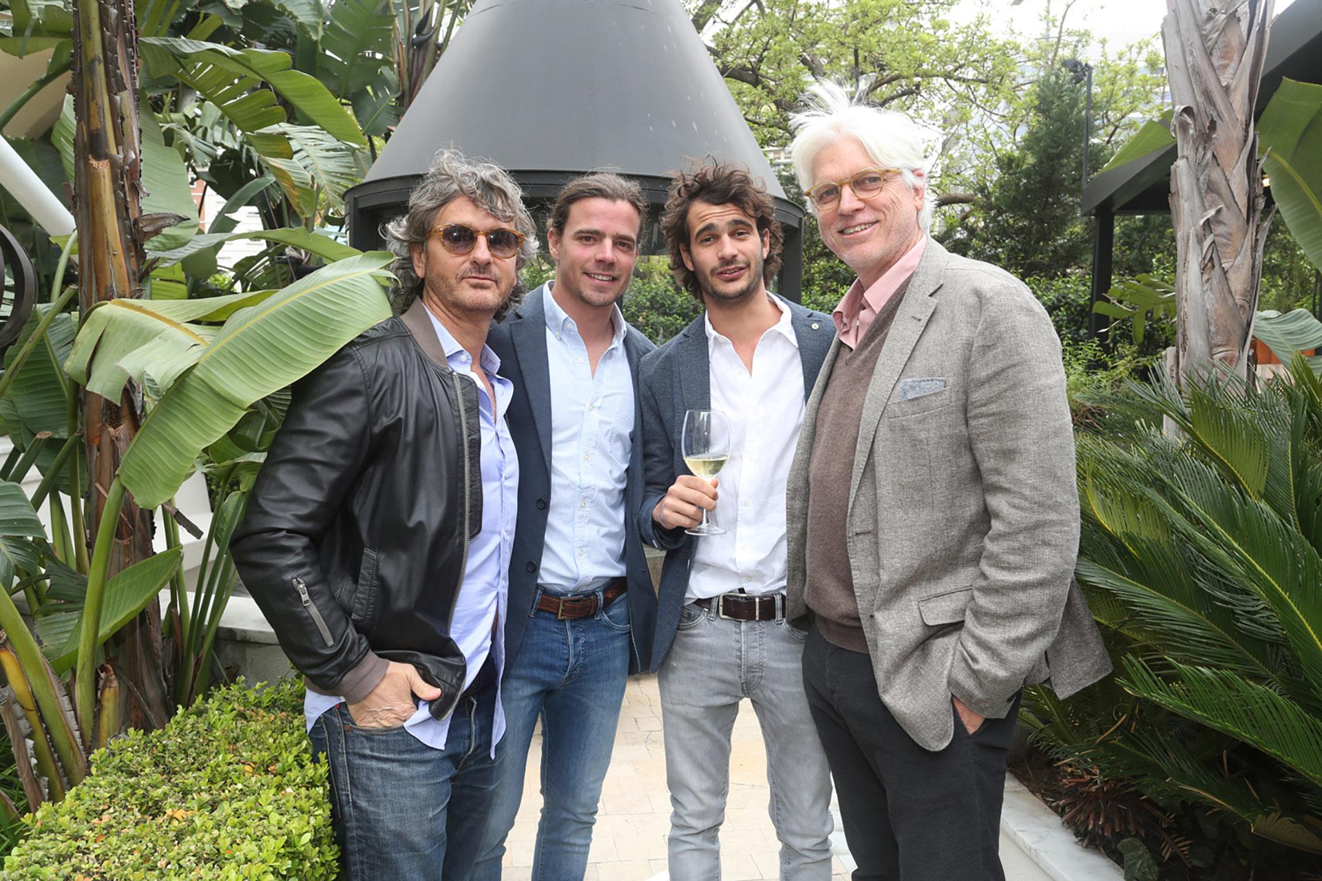 Pablo Massey, Cristian Menéndez, Marcos Miguens y Freddy Green