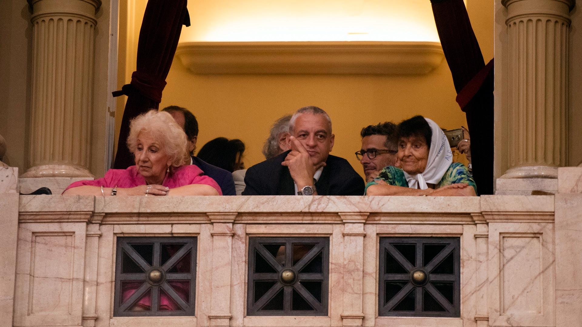 Estela de Carlotto, en el palco del parlamento