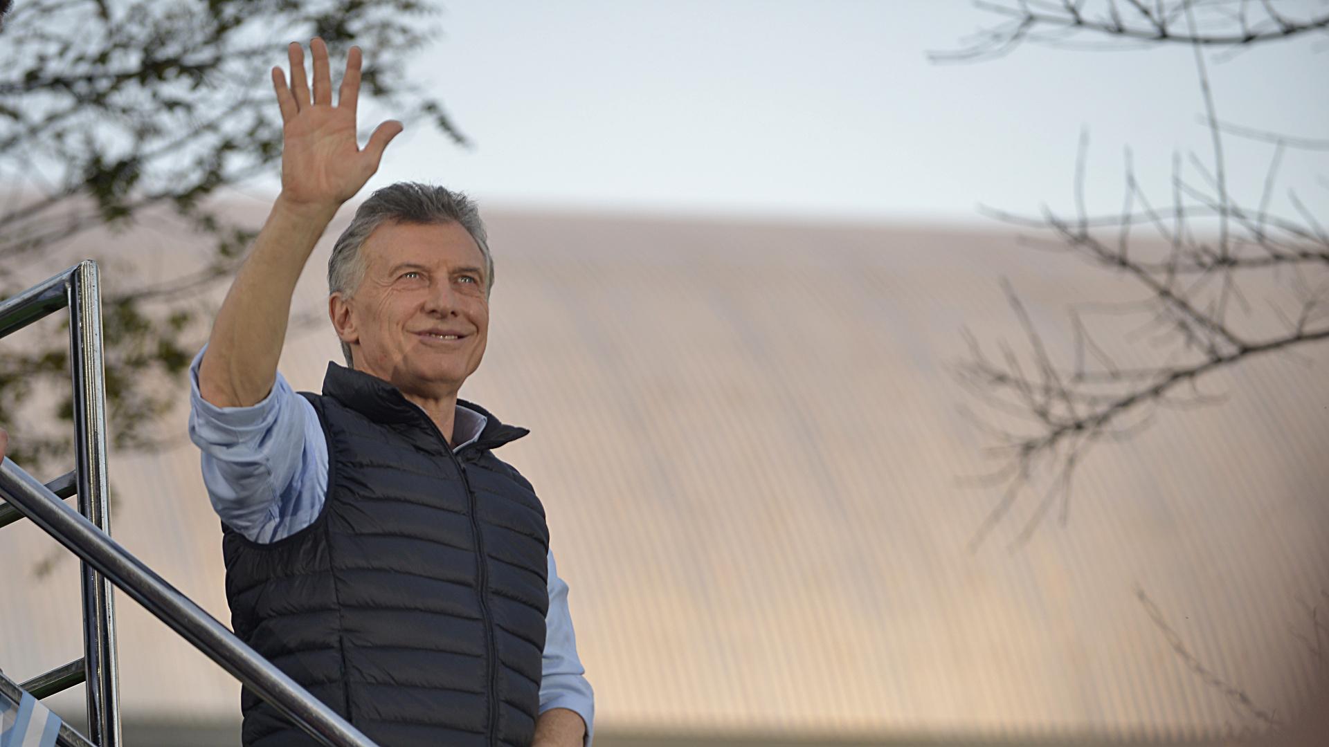 Mauricio Macri, en uno de sus últimos actos de campaña.
