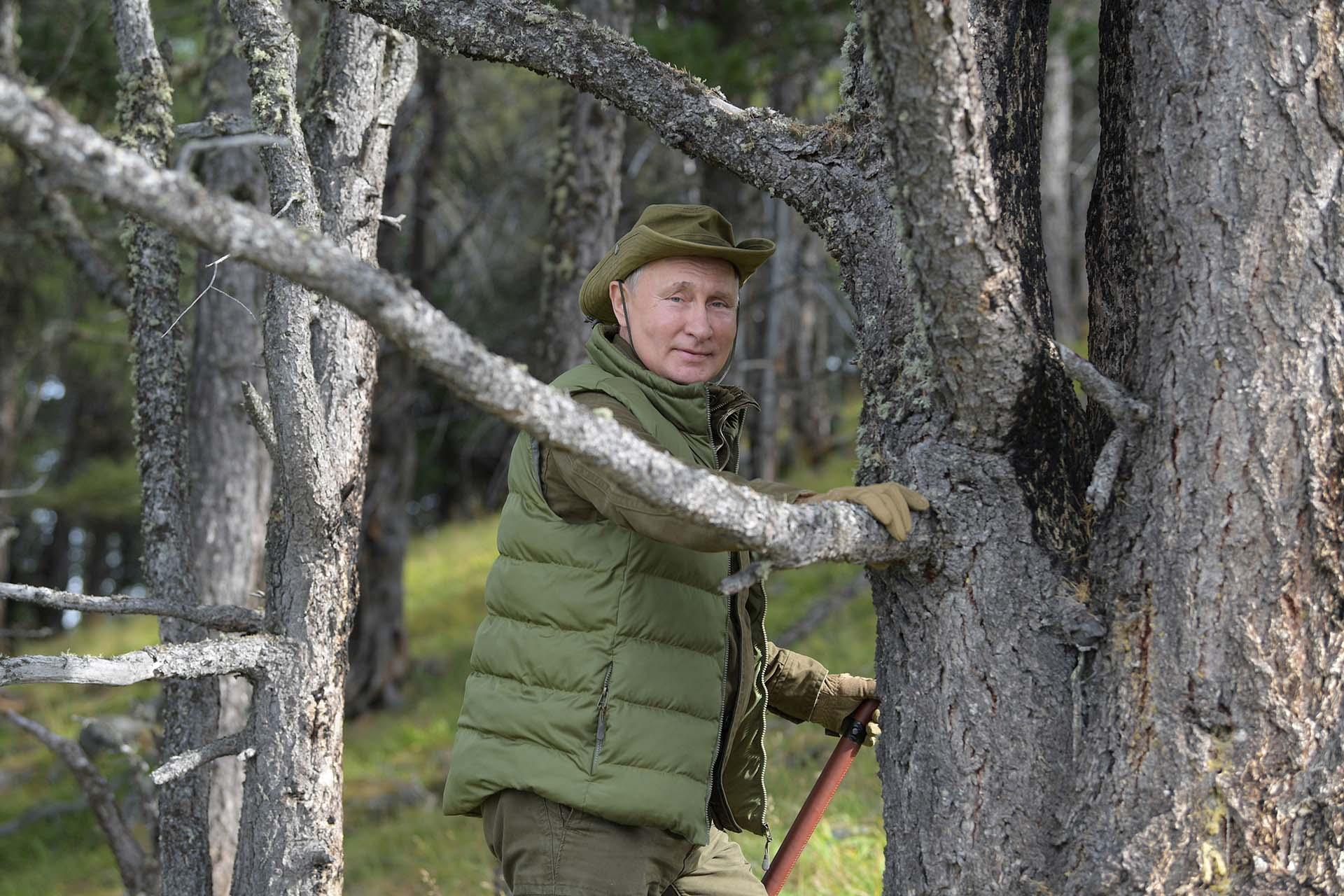 En un video difundido por el Kremlin, con una voz casi sin aliento, Putin destacó: