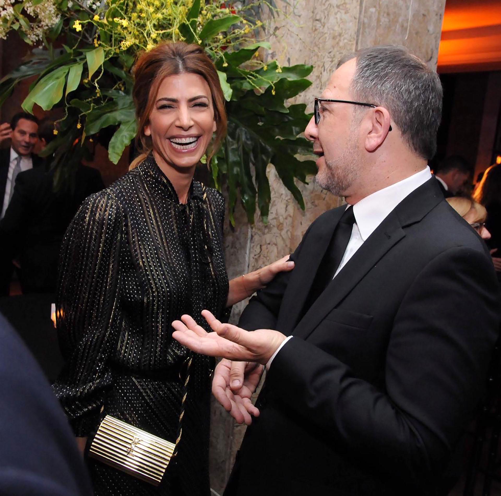 La Primera Dama, Juliana Awada, junto al secretario general de la provincia de Buenos Aires, Fabián Perechodnik