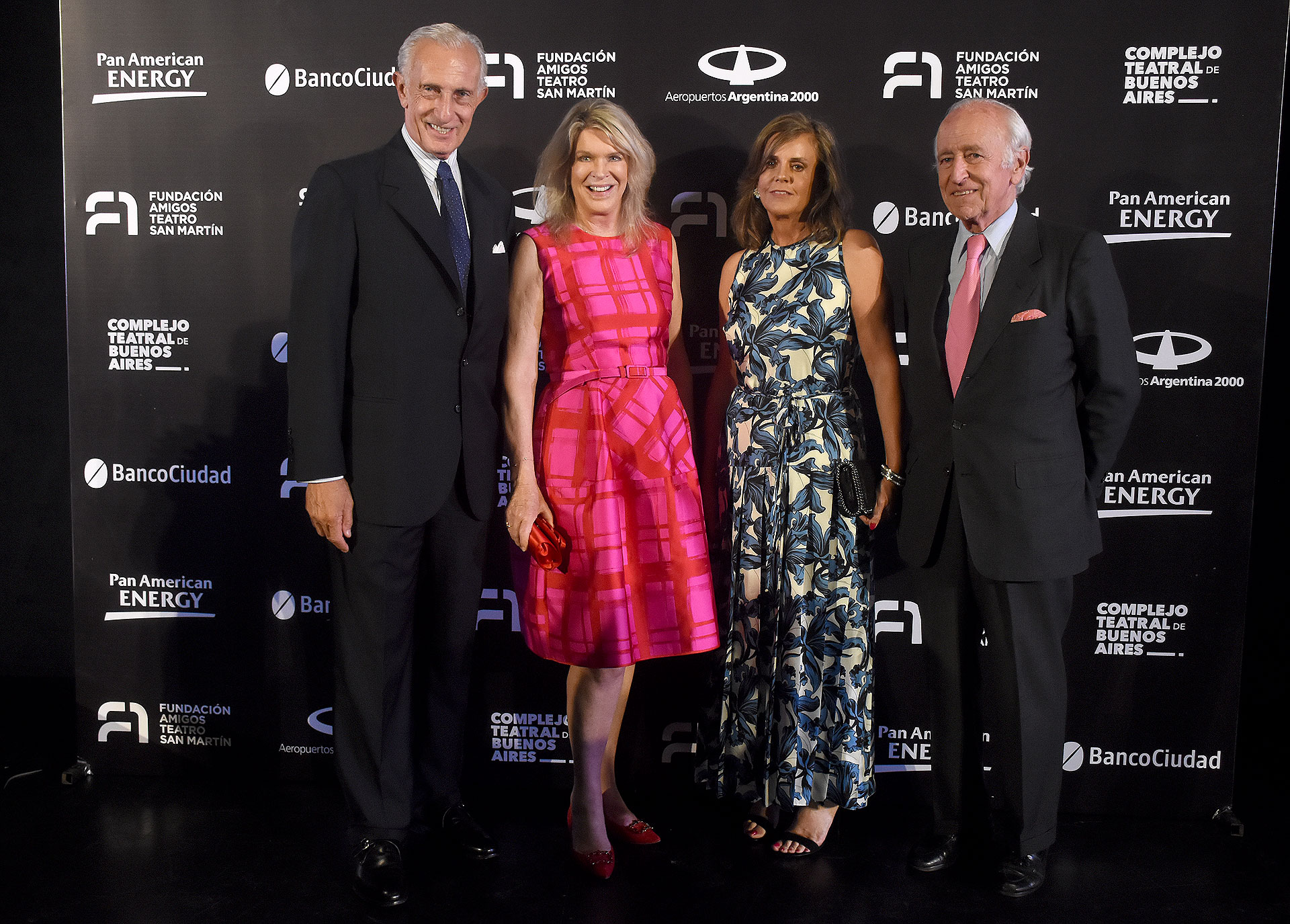Jorge Neuss, Eva Thesleff de Soldati, Silvia Saravia de Neuss y Santiago Soldati