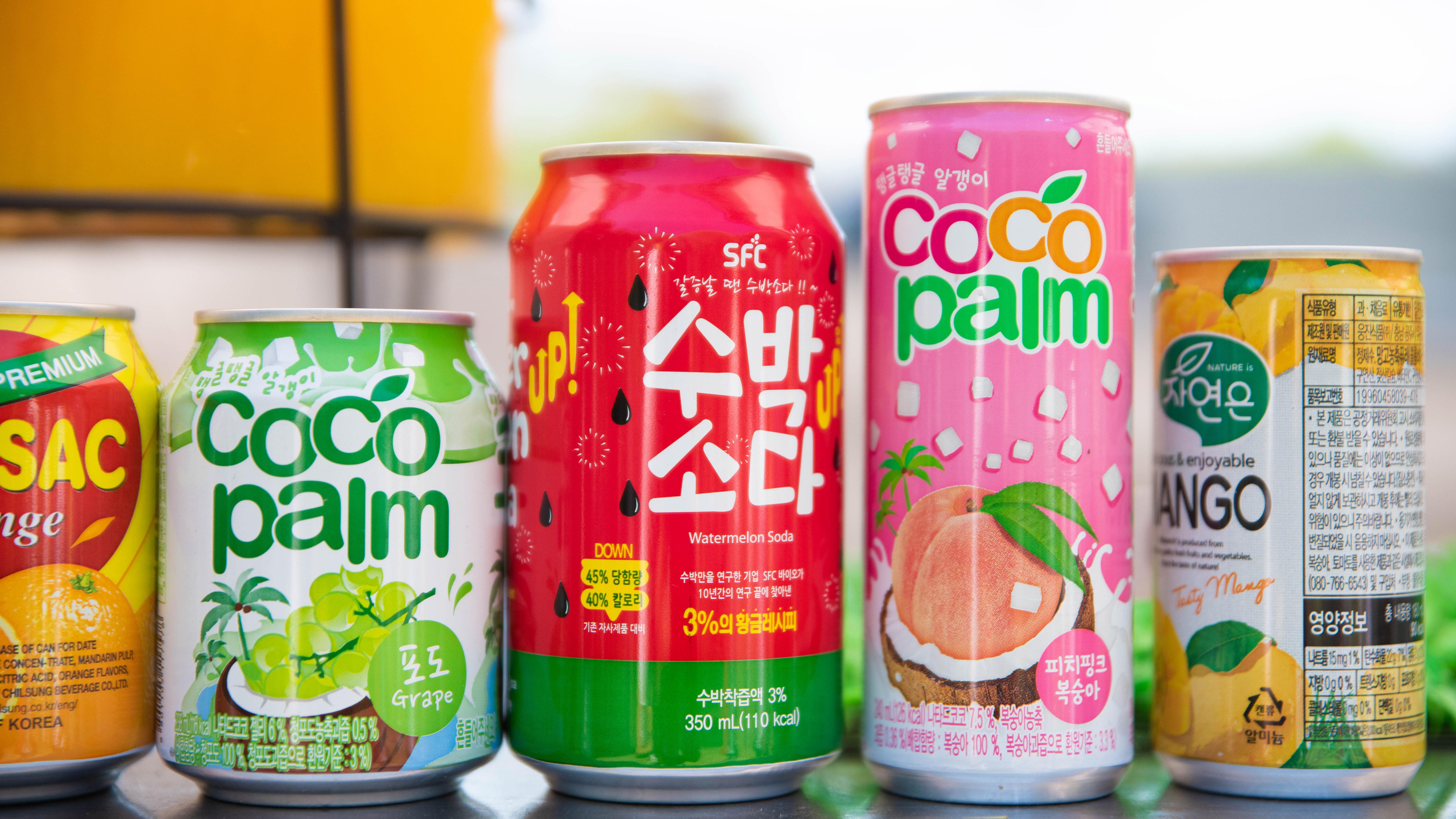También se podían conseguir bebidas populares en China y Taiwan.
