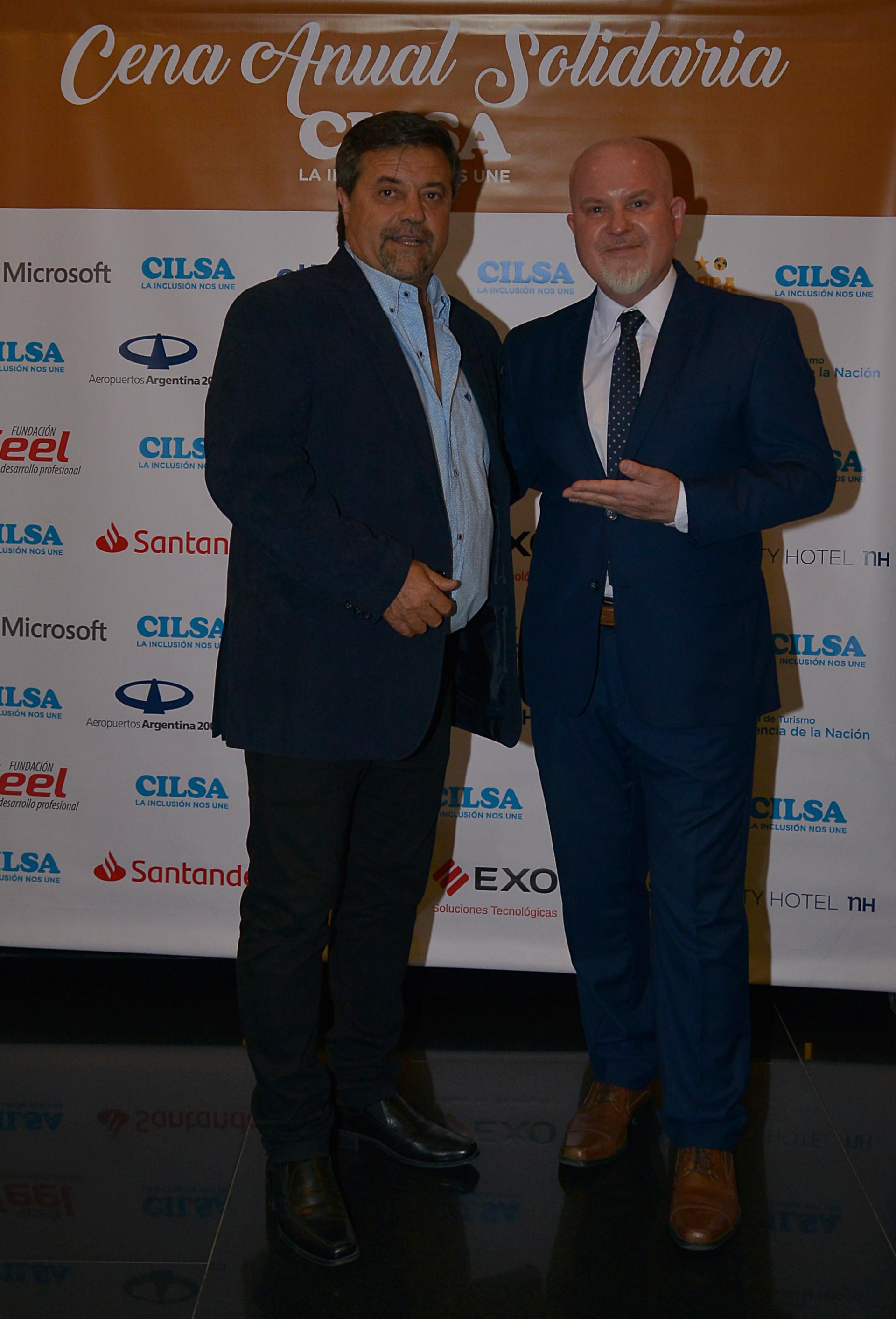 Ricardo Caruso Lombardi junto a Juan Ignacio Penlowskyj (prensa de CILSA)