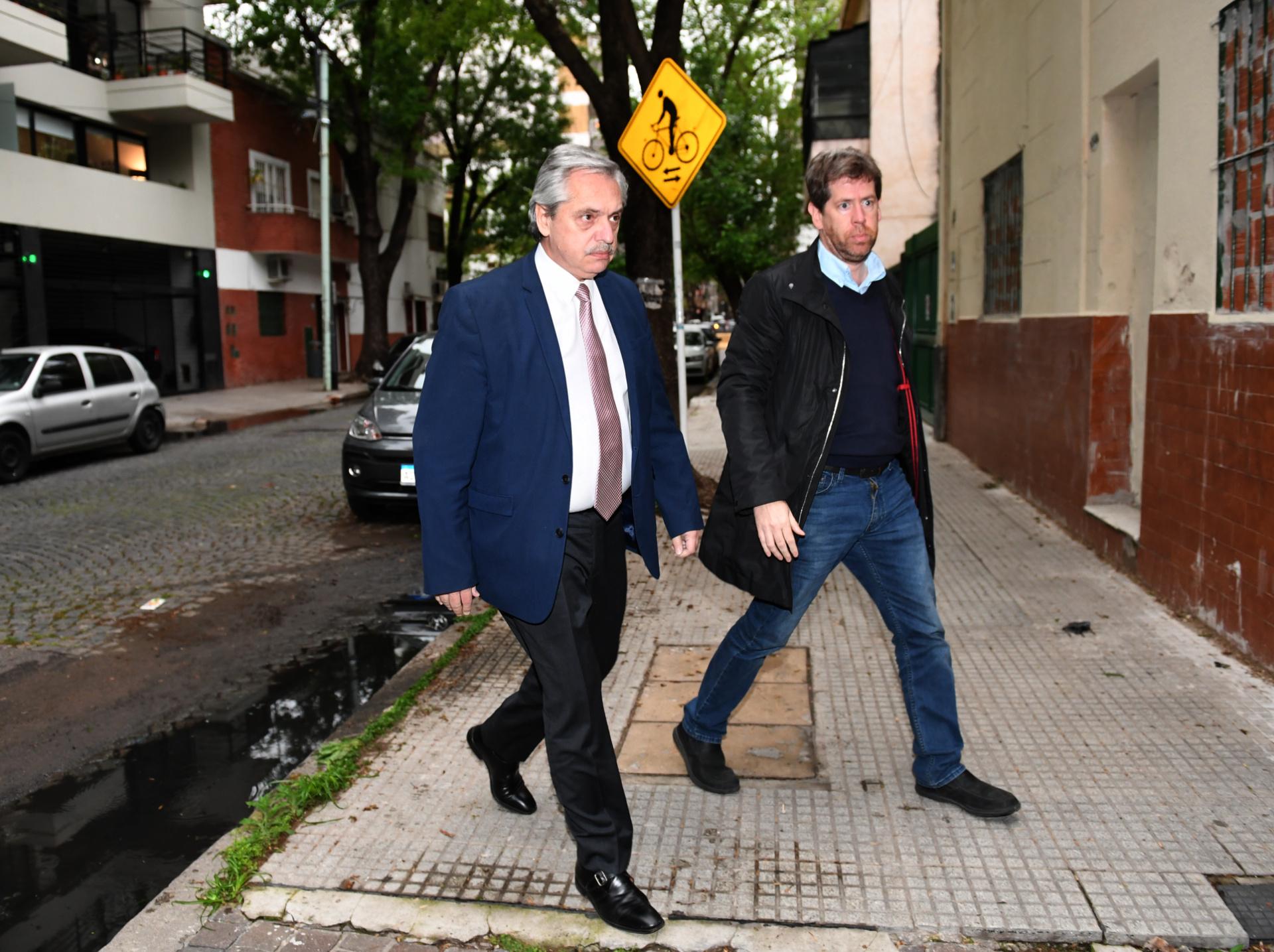El candidato a presidente por el Frente de Todos, Alberto Fernández