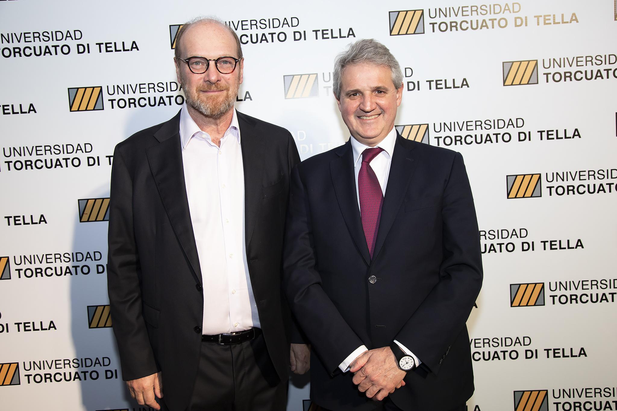 El empresario Gustavo Grobocopatel y Juan José Cruces