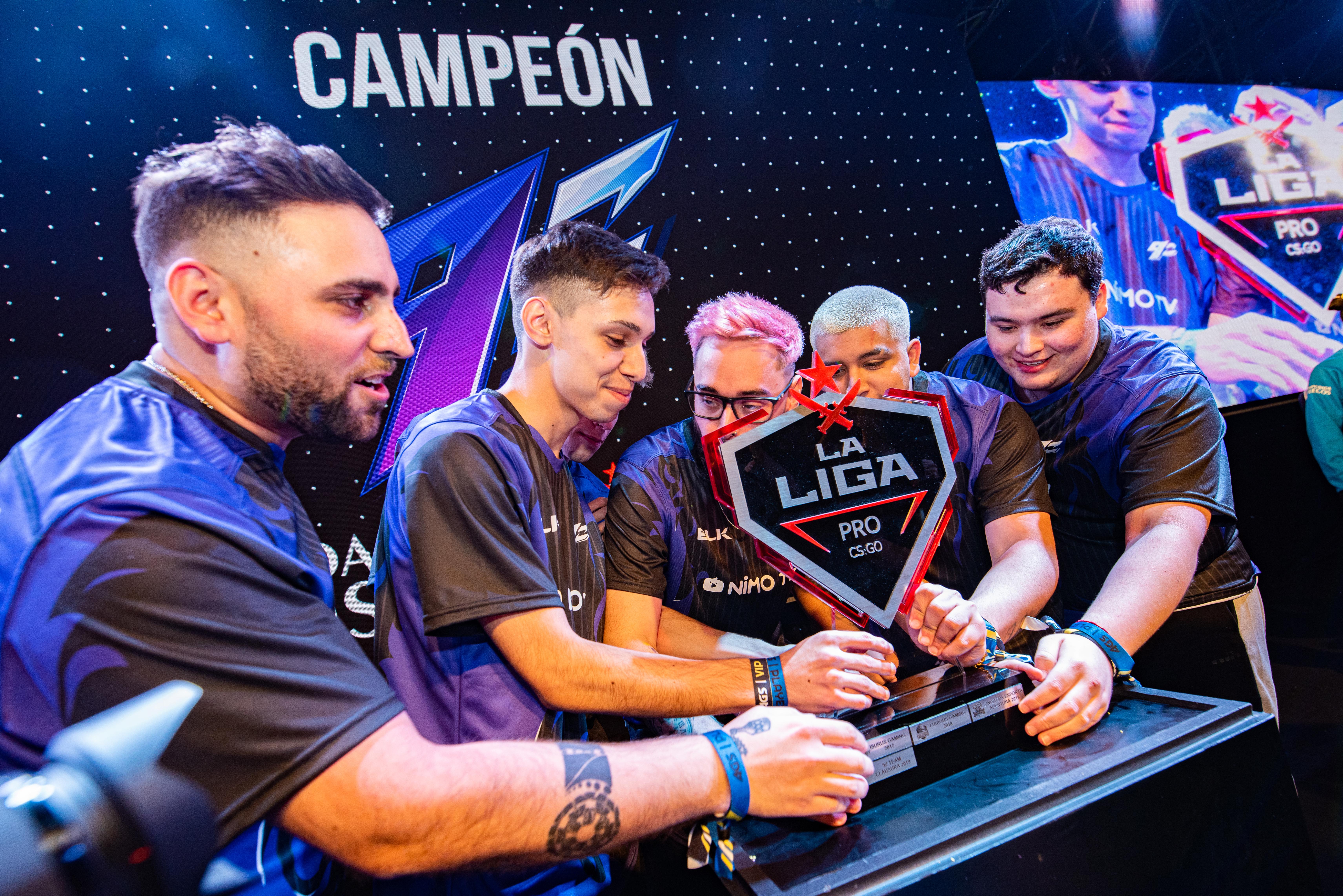 El equipo 9Z, ganador de la Liga Pro CS GO
