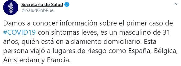 (Foto: Twitter/SaludGobPue)