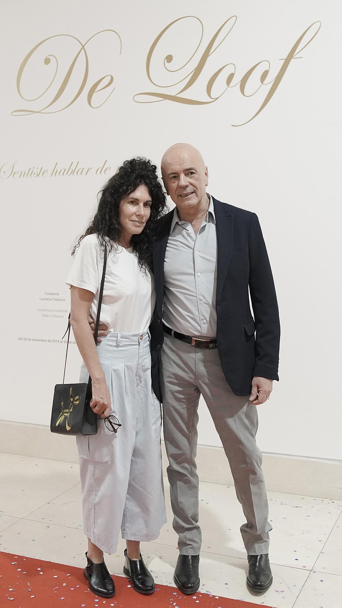 La artista plástica Cynthia Cohen y su pareja, el director del Complejo Teatral de Buenos Aires, Jorge Telerman