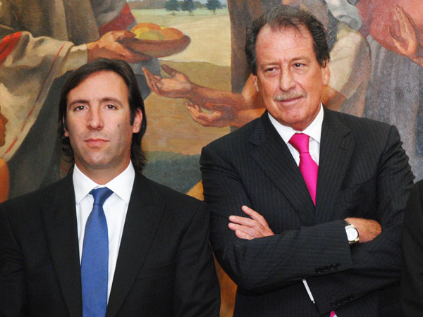 El empresario y Hernán Lorenzino, ex ministro de Economía