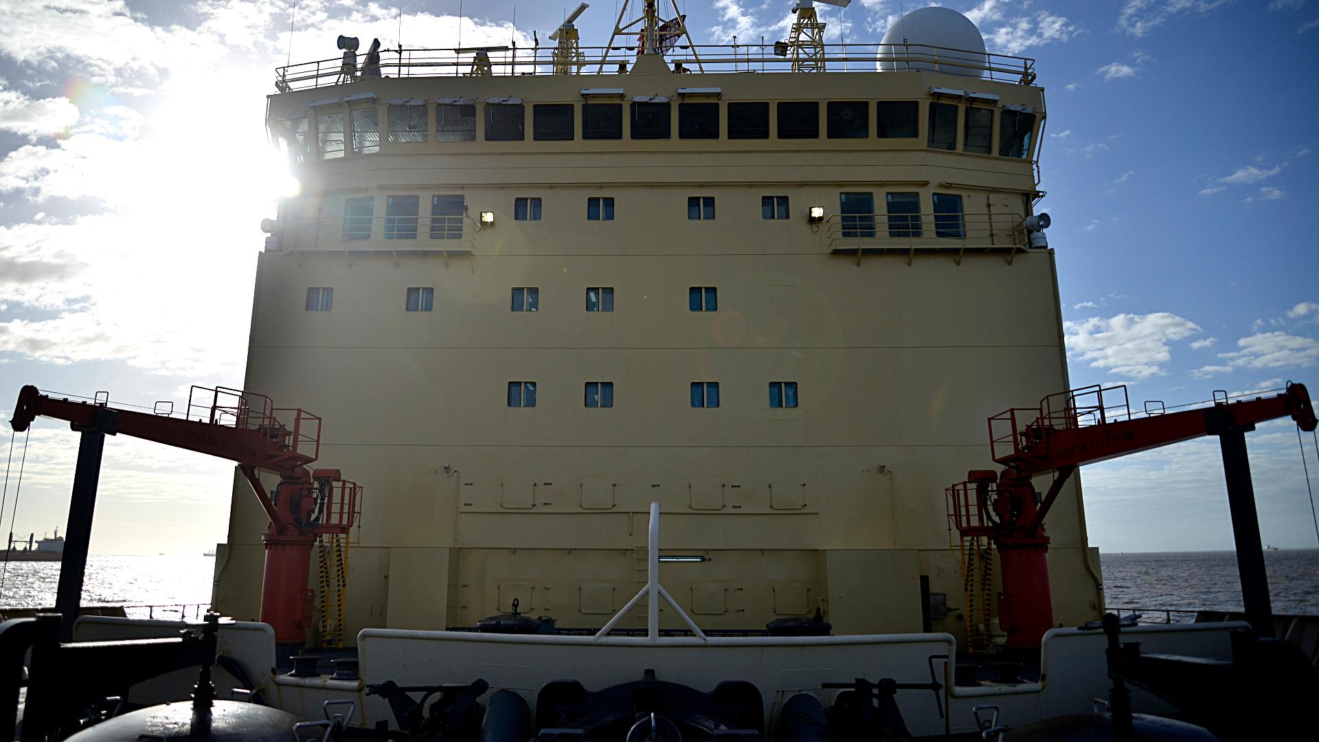 Vista del casillaje del Rompehielos ARA Almirante Irízar