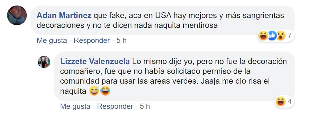 Valenzuela aclaró que no había pedido permiso para poner su decoración en ese lugar (Foto: Facebook)