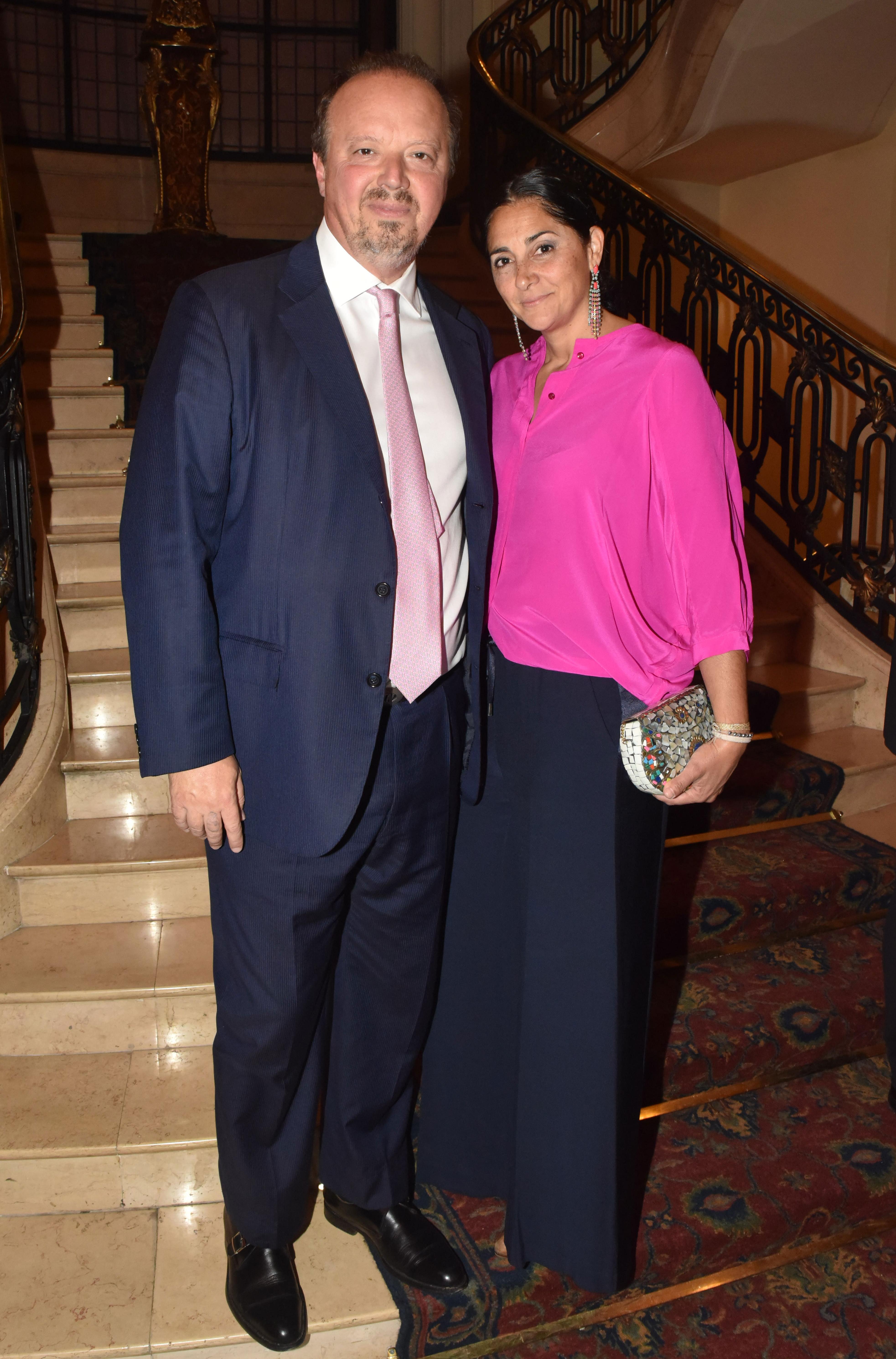 El presidente del Banco de Valores, Juan Ignacio Nápoli, y su mujer María Laura Cristinz
