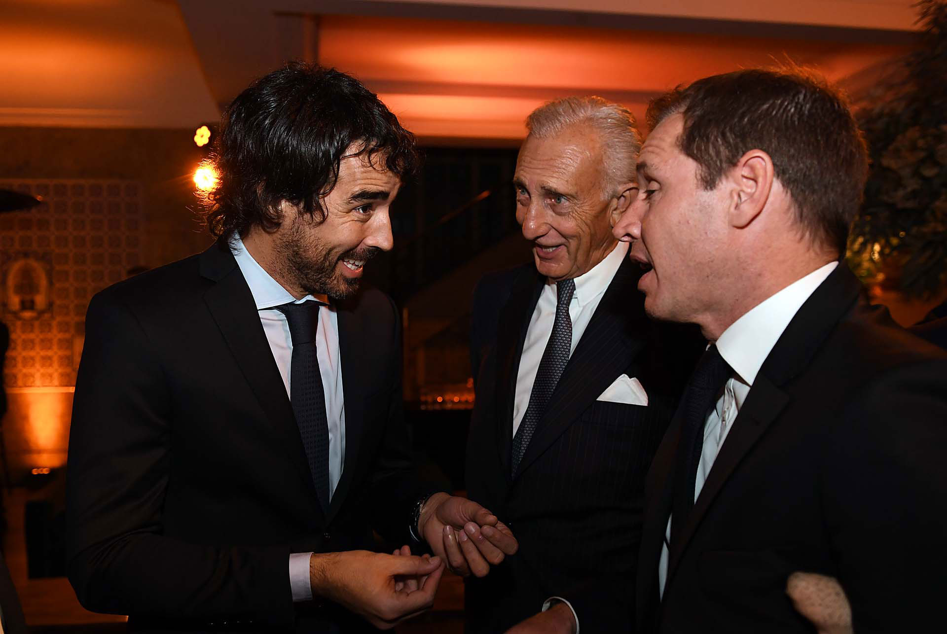 Nacho Viale, Jorge Neuss y Jorge Brito (h)