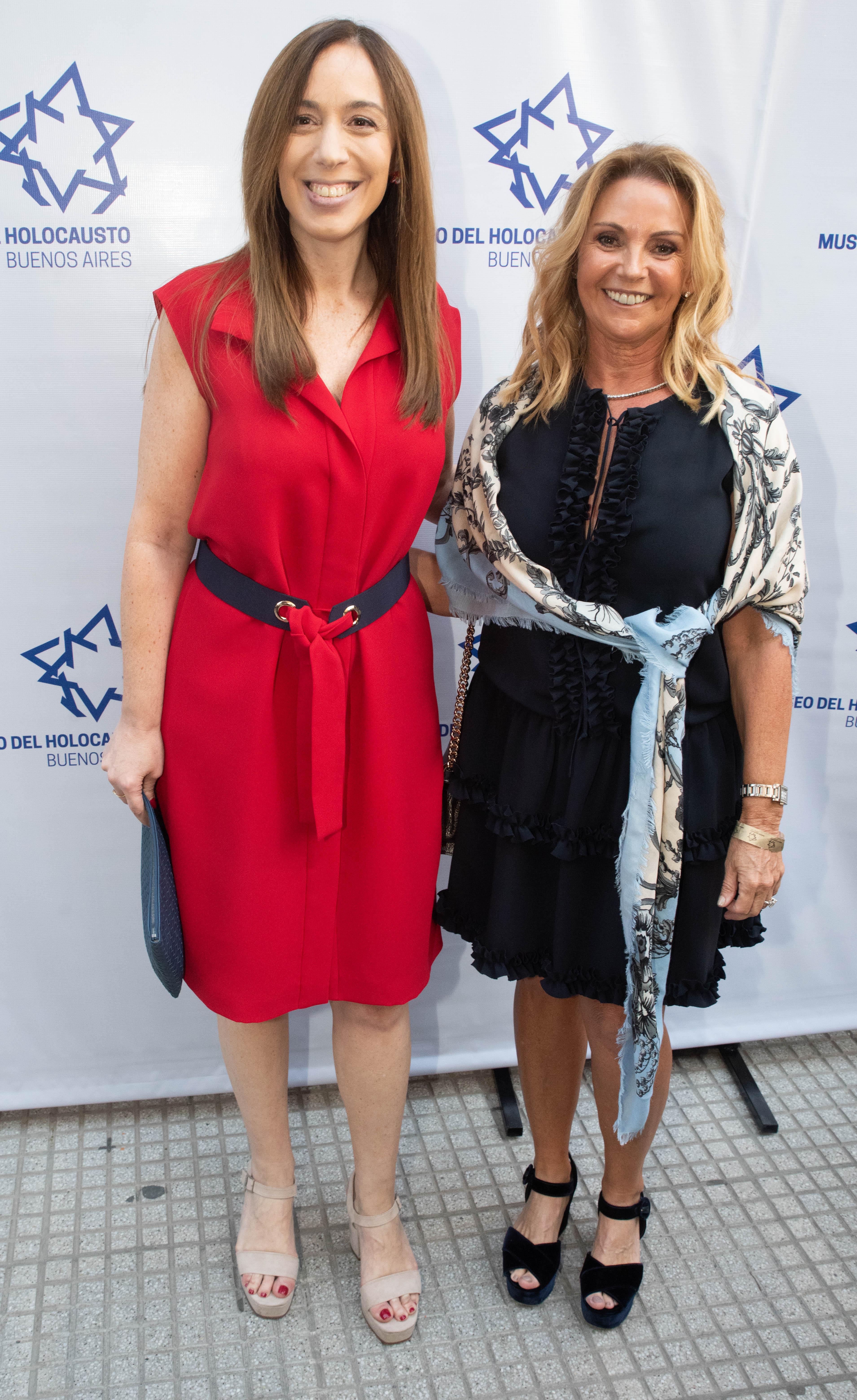 La gobernadora bonaerense María Eugenia Vidal y Mariana Mindlin