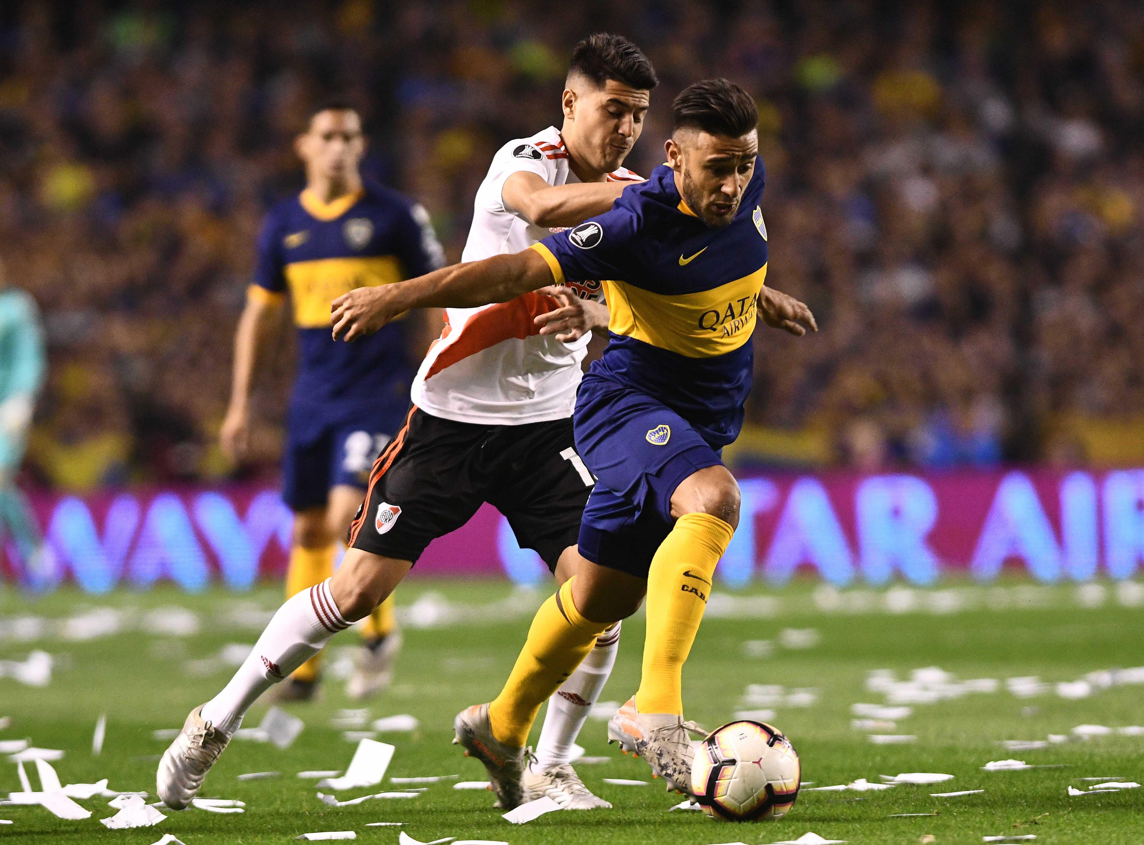 Salvio había puesto en ventaja a Boca pero el tanto fue anulado por una mano previa de Mas