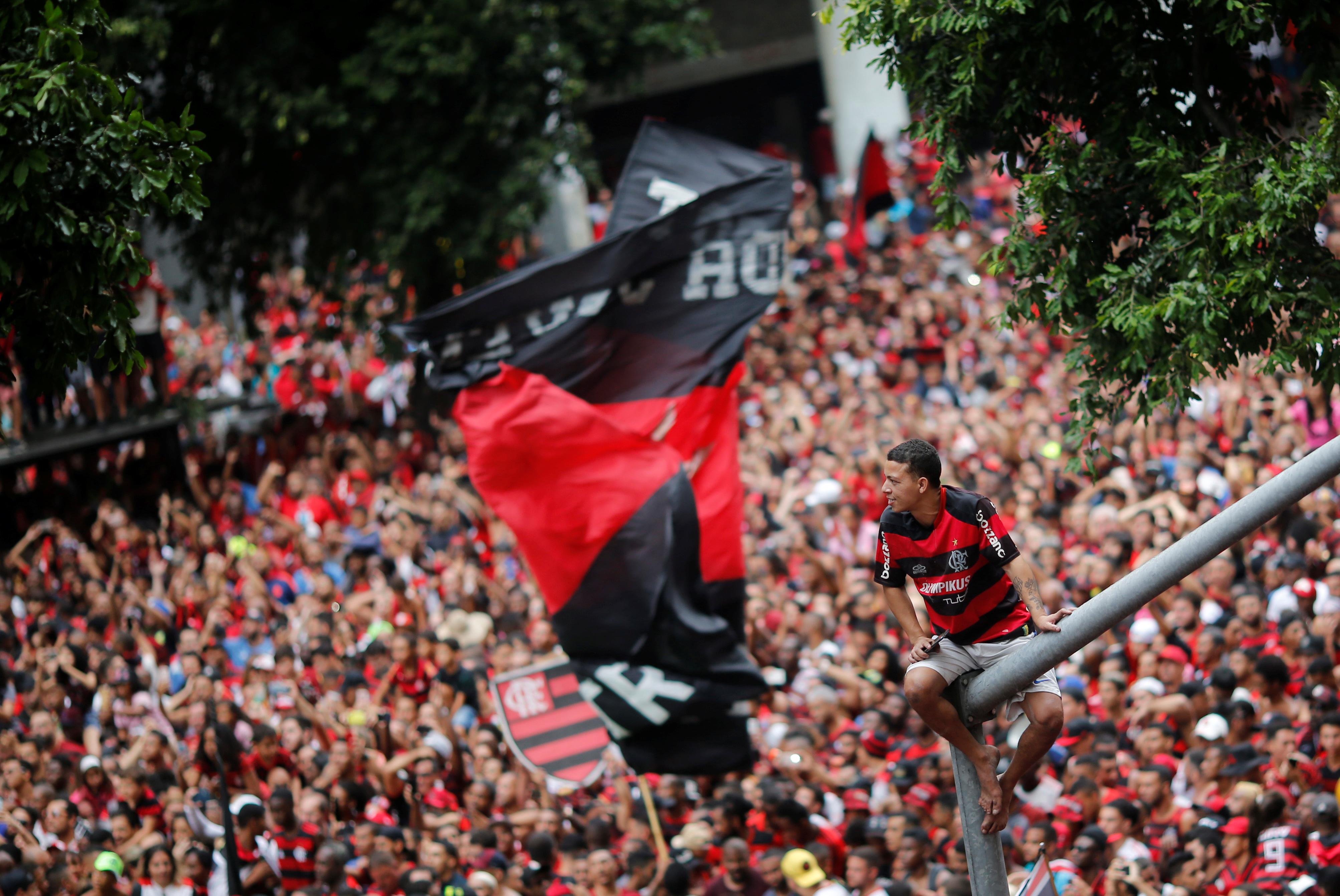 Las calles cariocas se vieron colmadas de aficionados