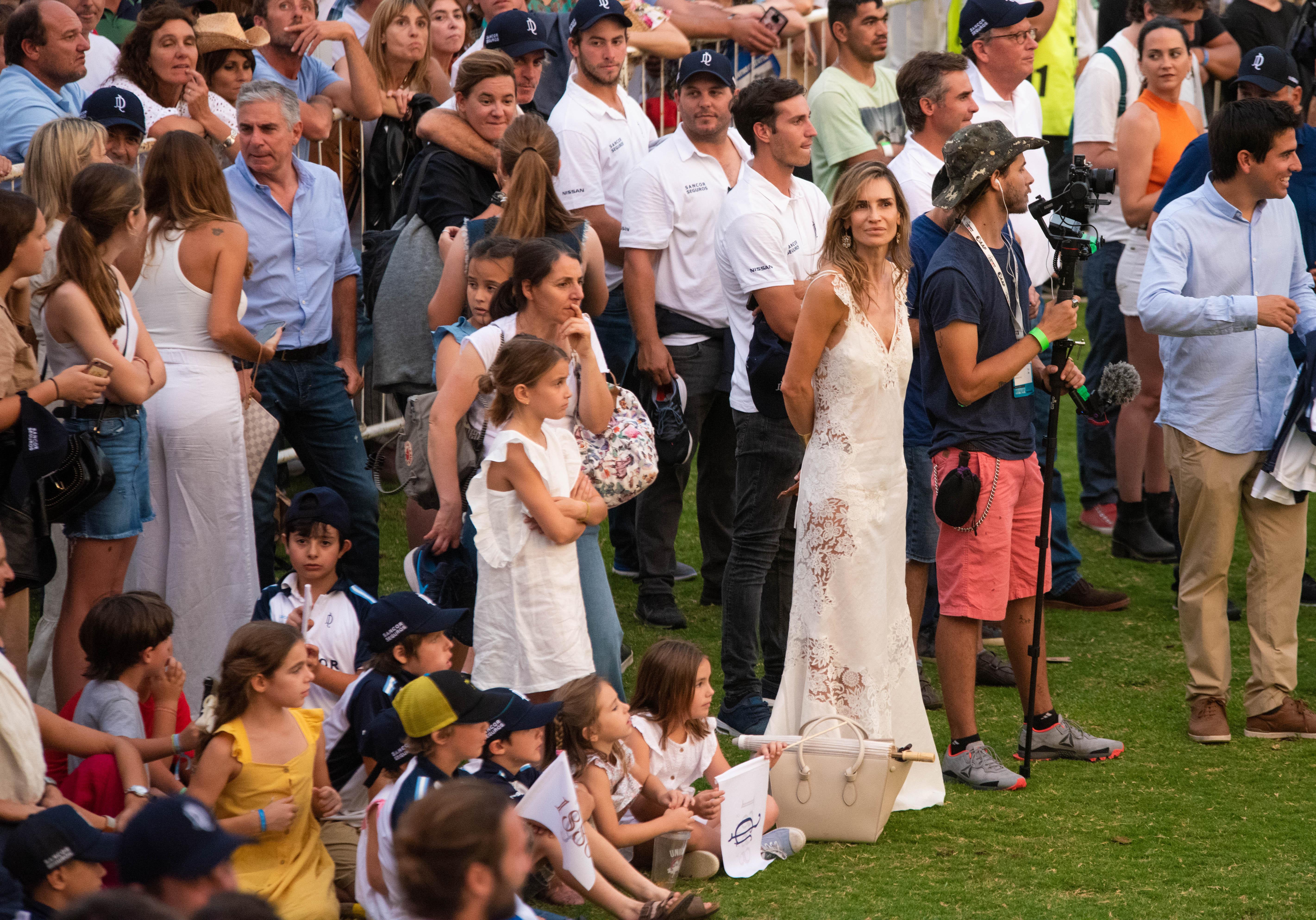 María Vázquez siguió con atención el partido