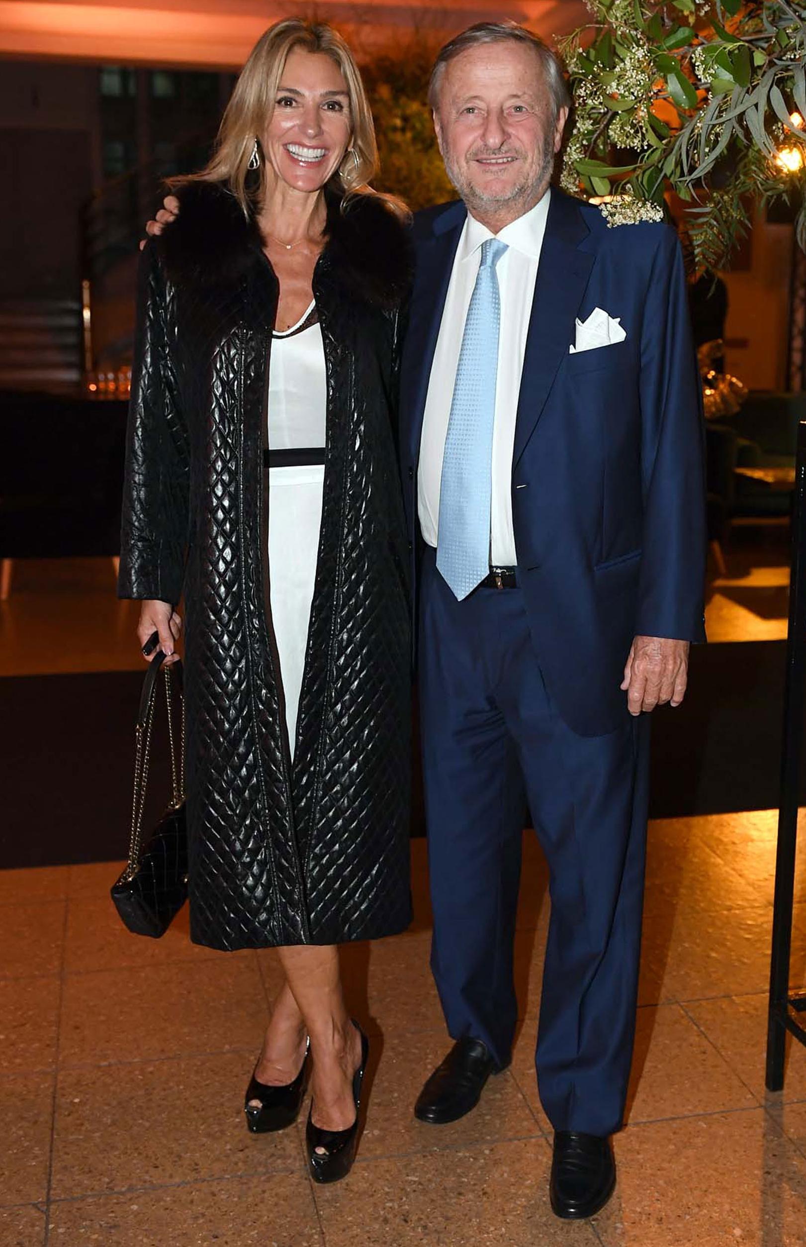 El presidente de Fiat Argentina, Cristiano Rattazzi, y su pareja Gabriela Castellani