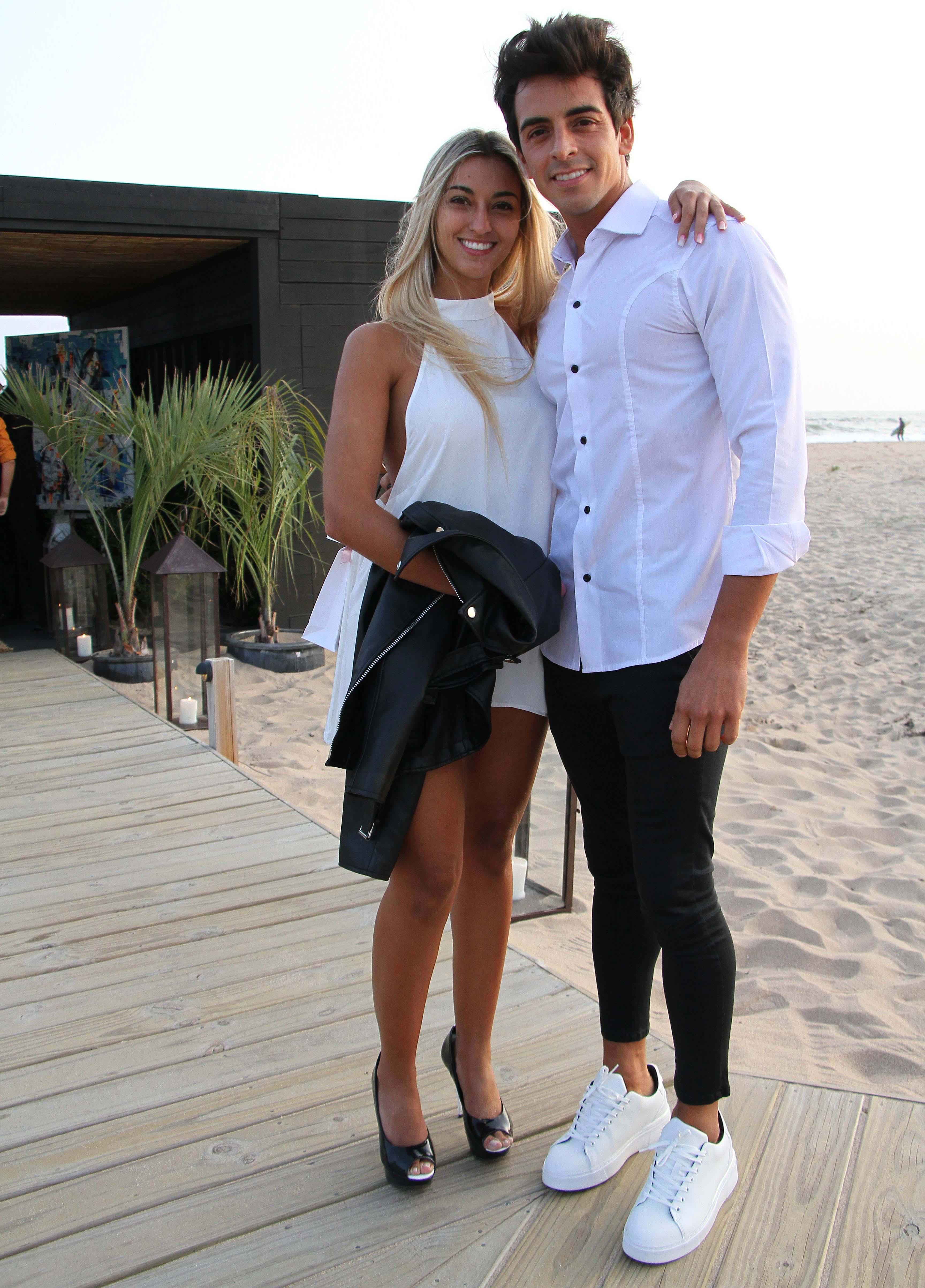 Guillermo Ardohain, el hermano de Pampita, y su novia, Malena Zemoglio