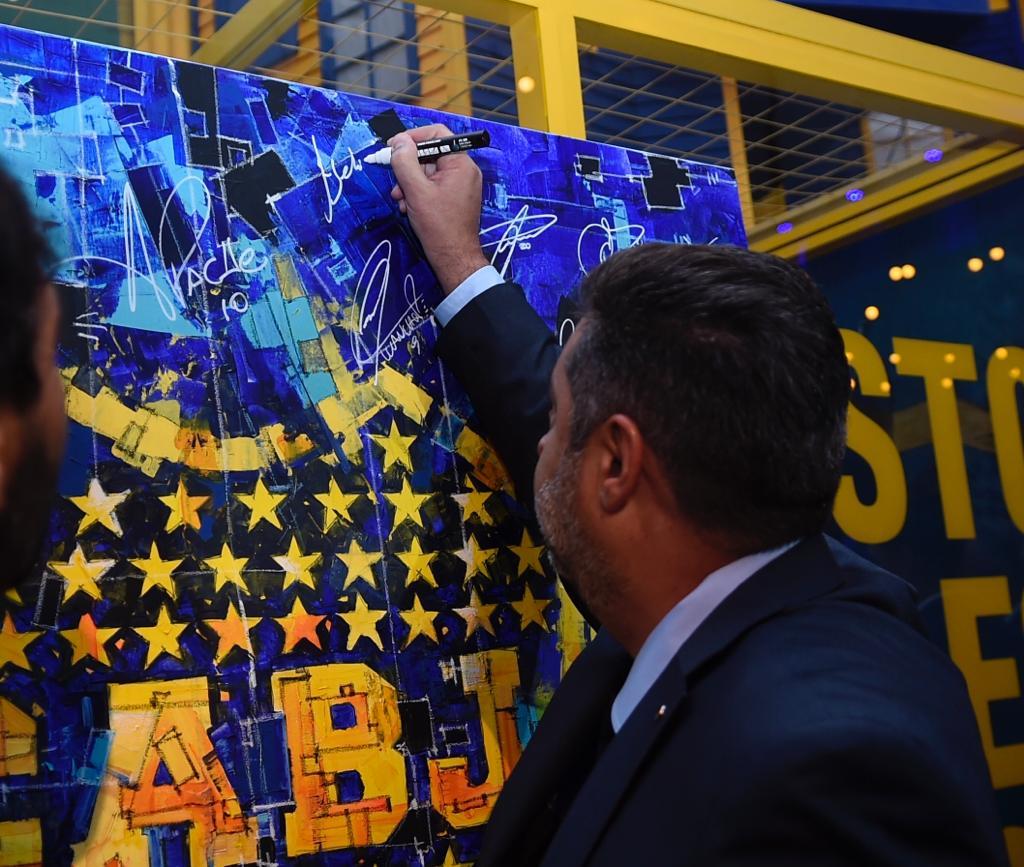Daniel Angelici dio su último discurso como presidente de Boca (@BocaJrsOficial)