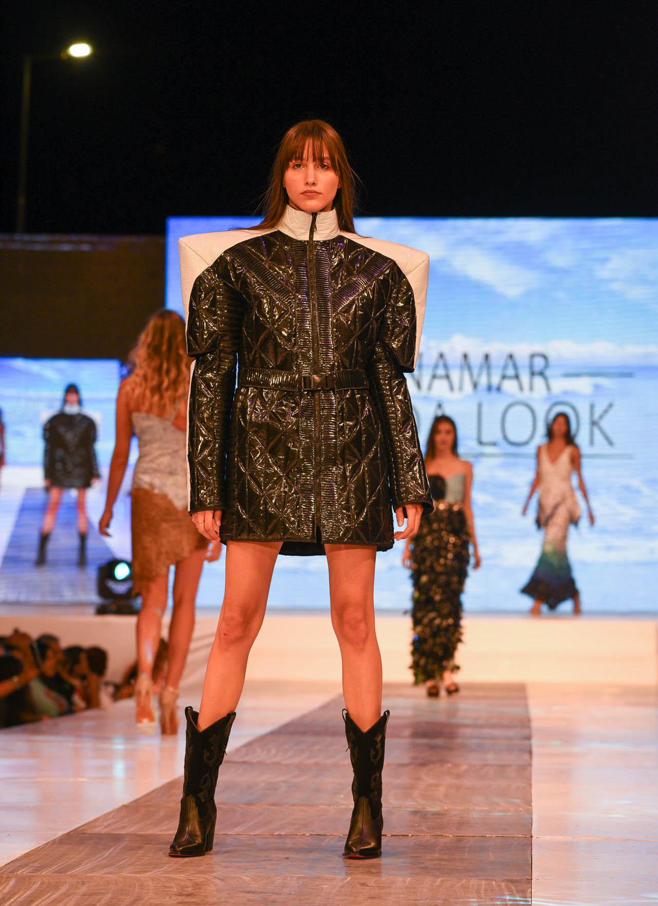 La propuesta de la Escuela Argentina de Moda, una colección ecológica de power dressing