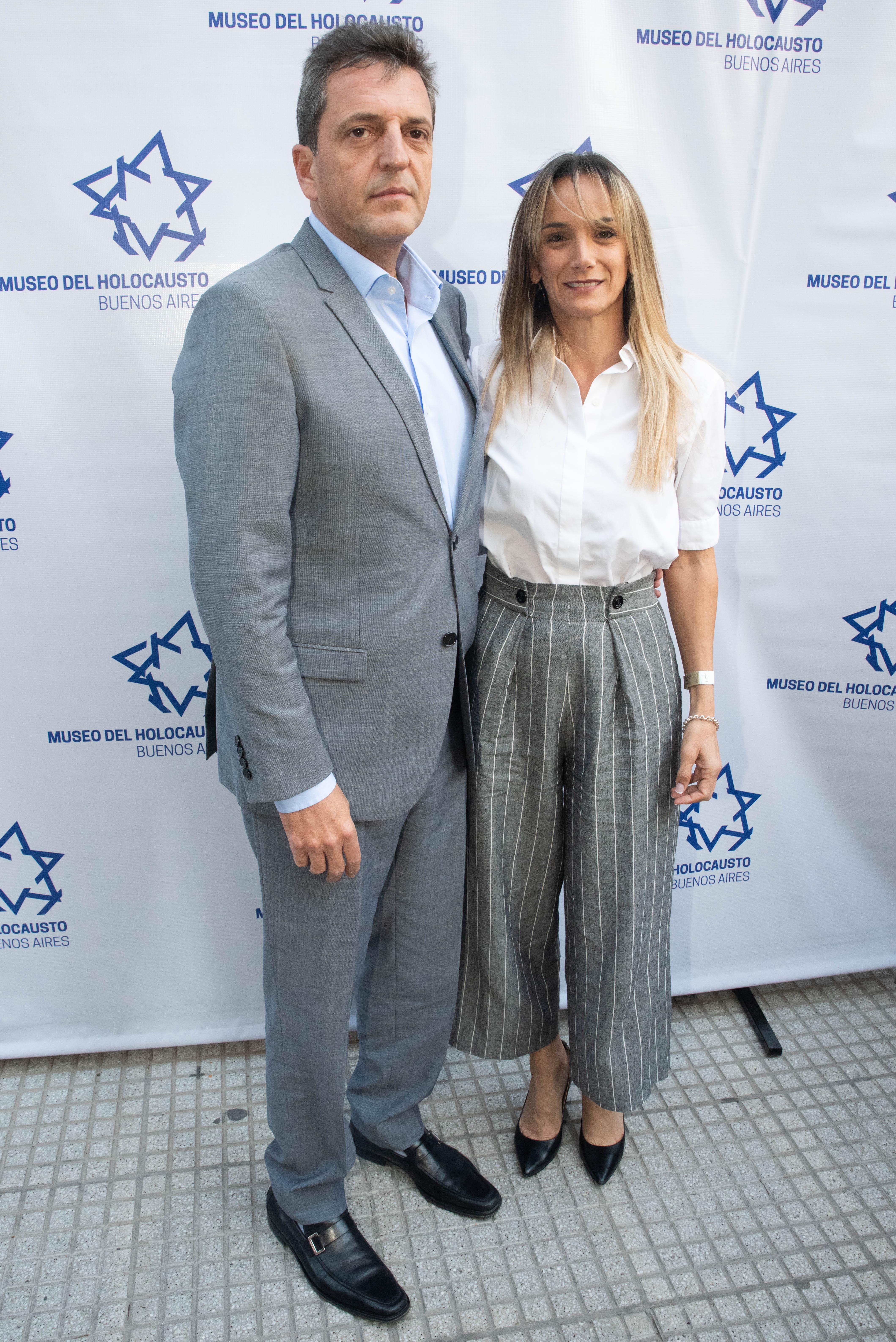 Sergio Massa y Malena Galmarini, la diputada nacional electa por el Frente de Todos