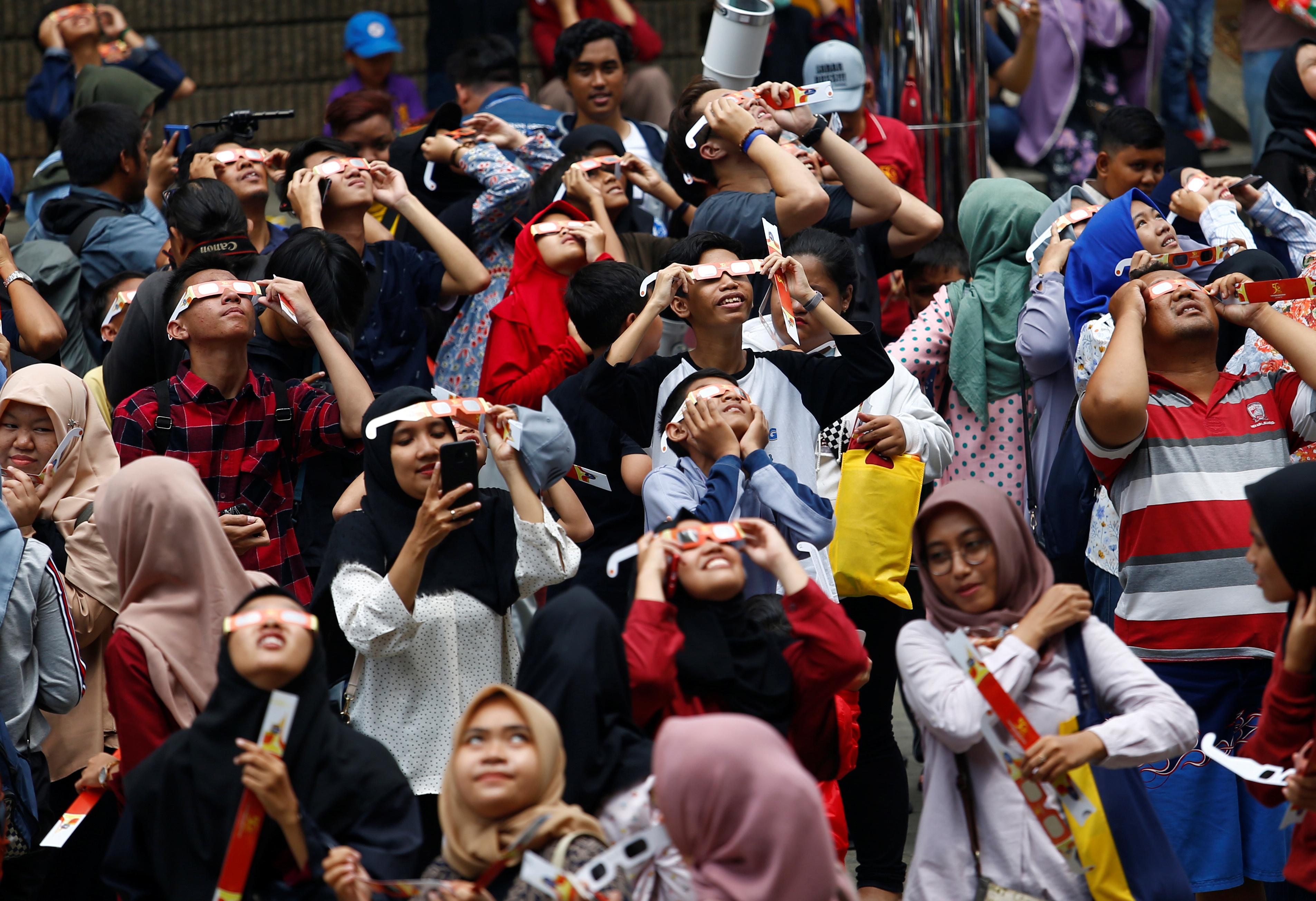 Jakarta, Indonesia, solar eclipse.