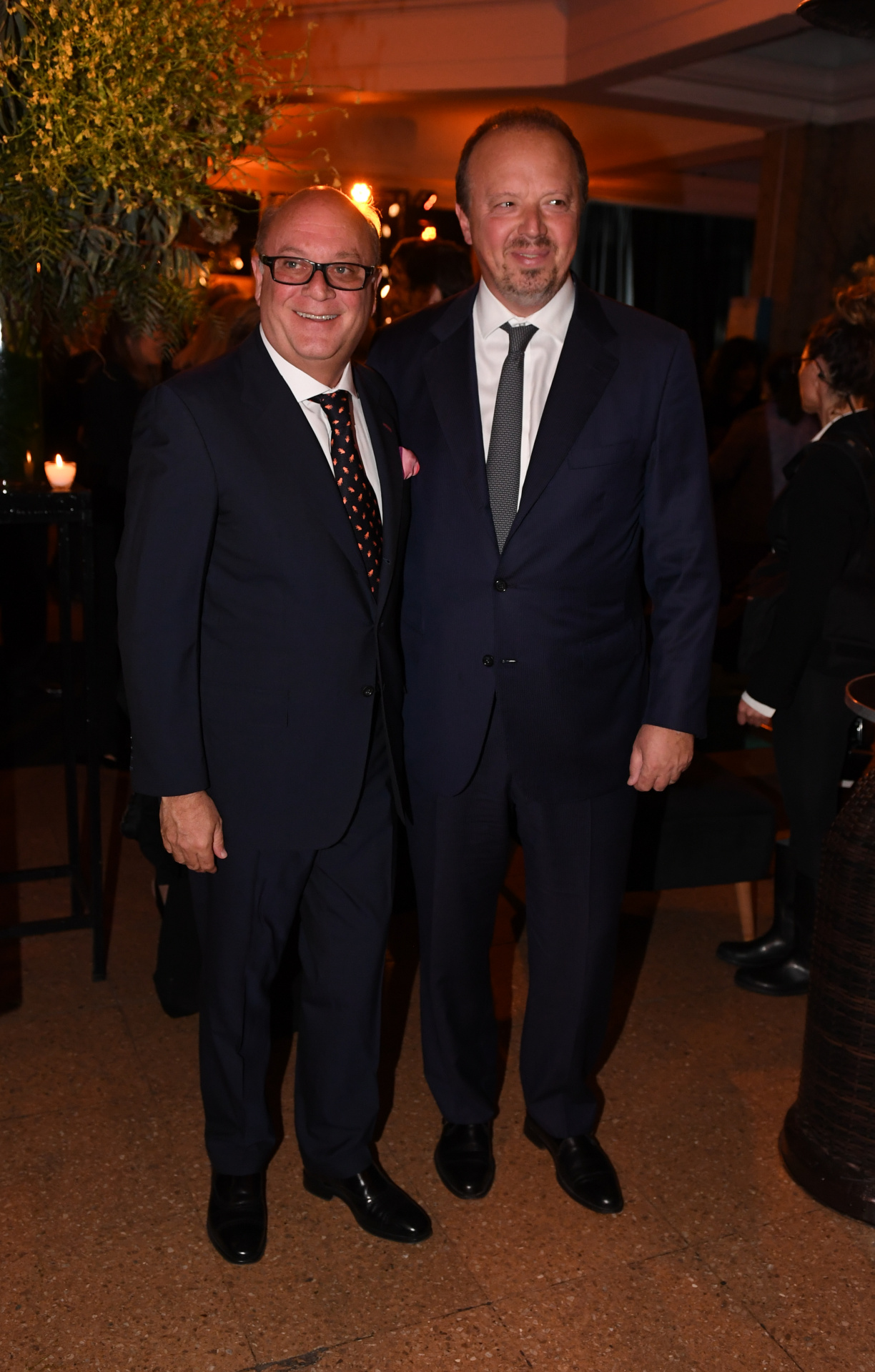 El empresario Martín Cabrales y el presidente del Banco de Valores, Juan Nápoli